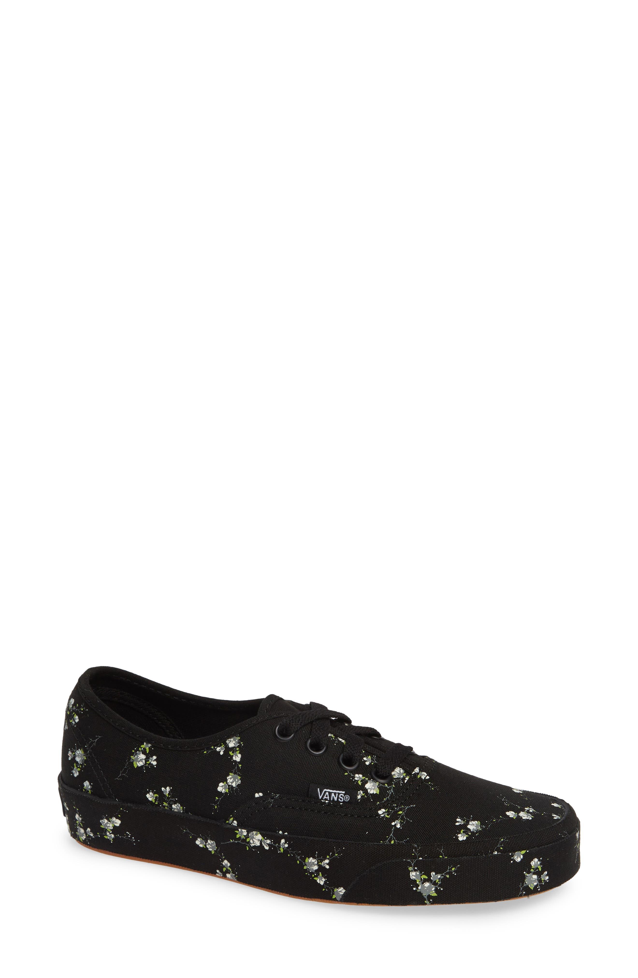 edc8f1d3e3 Vans Authentic Floral Sneaker- Black