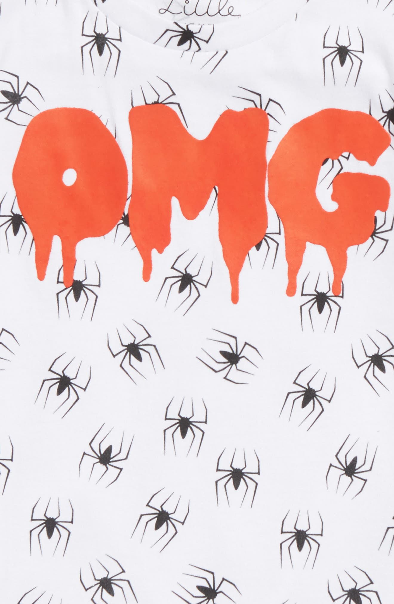 OMG Spider Graphic T-Shirt,                             Alternate thumbnail 2, color,                             100