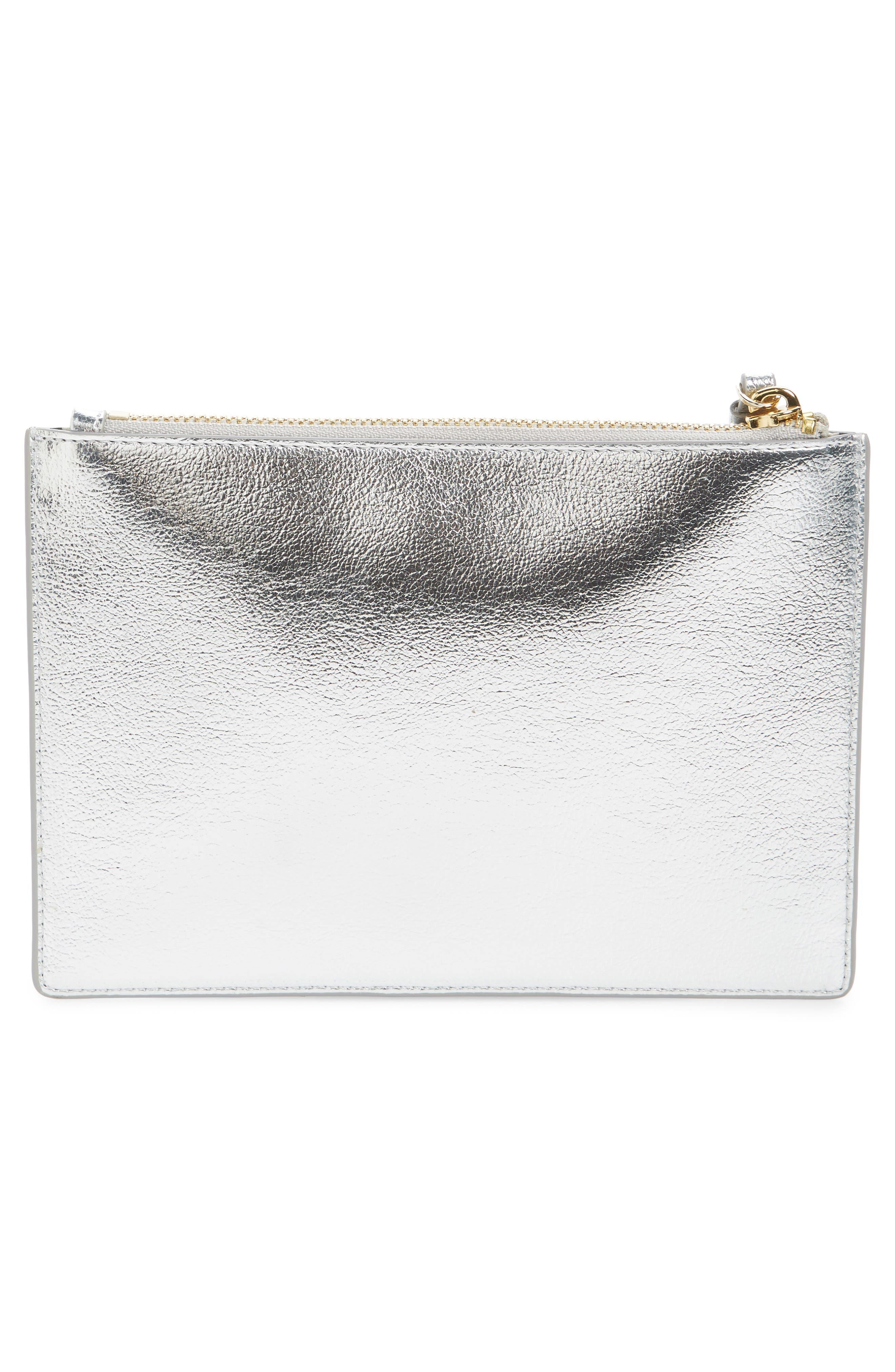 highland drive - yury faux leather zip pouch,                             Alternate thumbnail 3, color,                             040