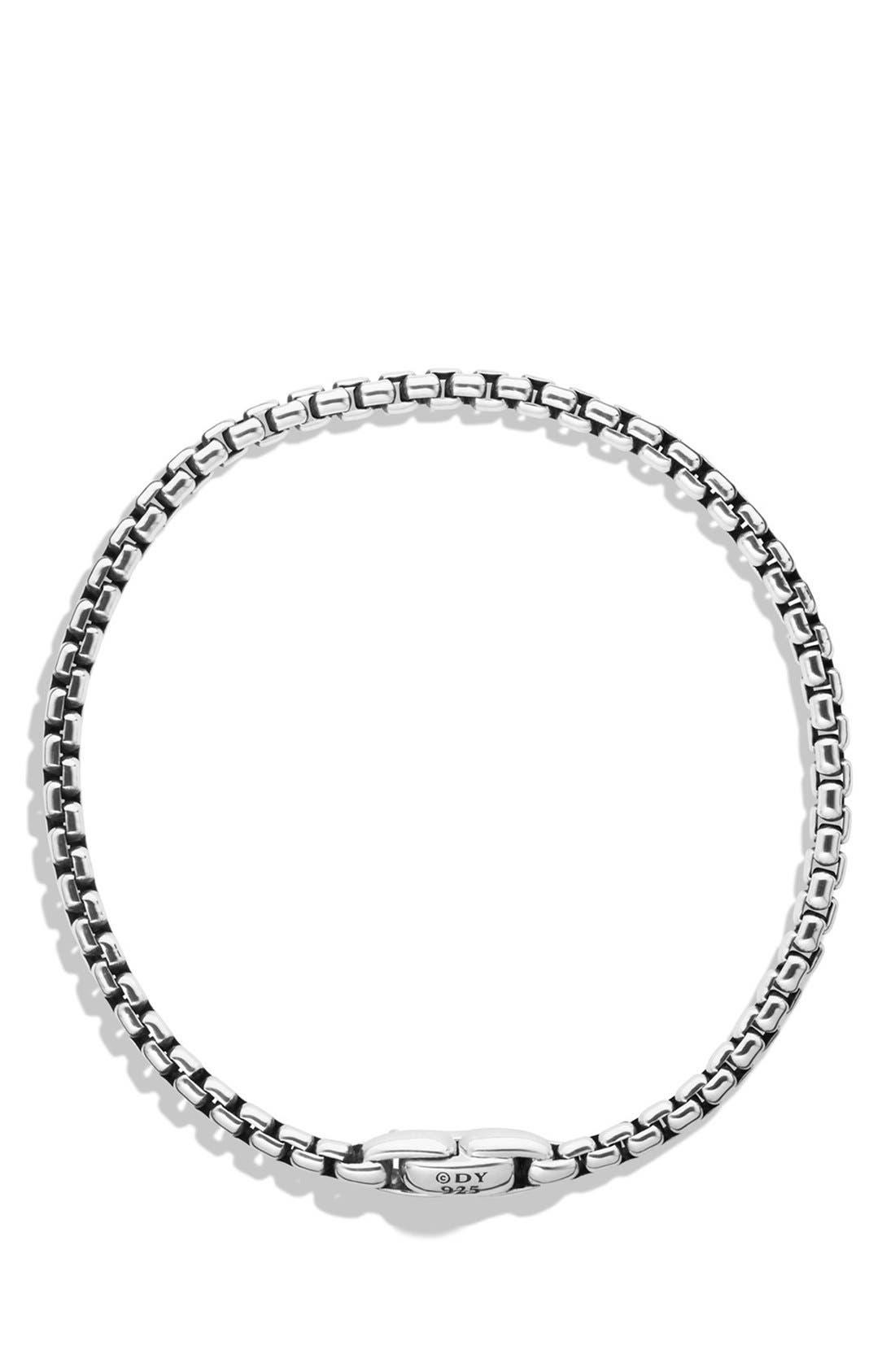 'Chain' Medium Box Chain Bracelet,                             Alternate thumbnail 3, color,                             SILVER