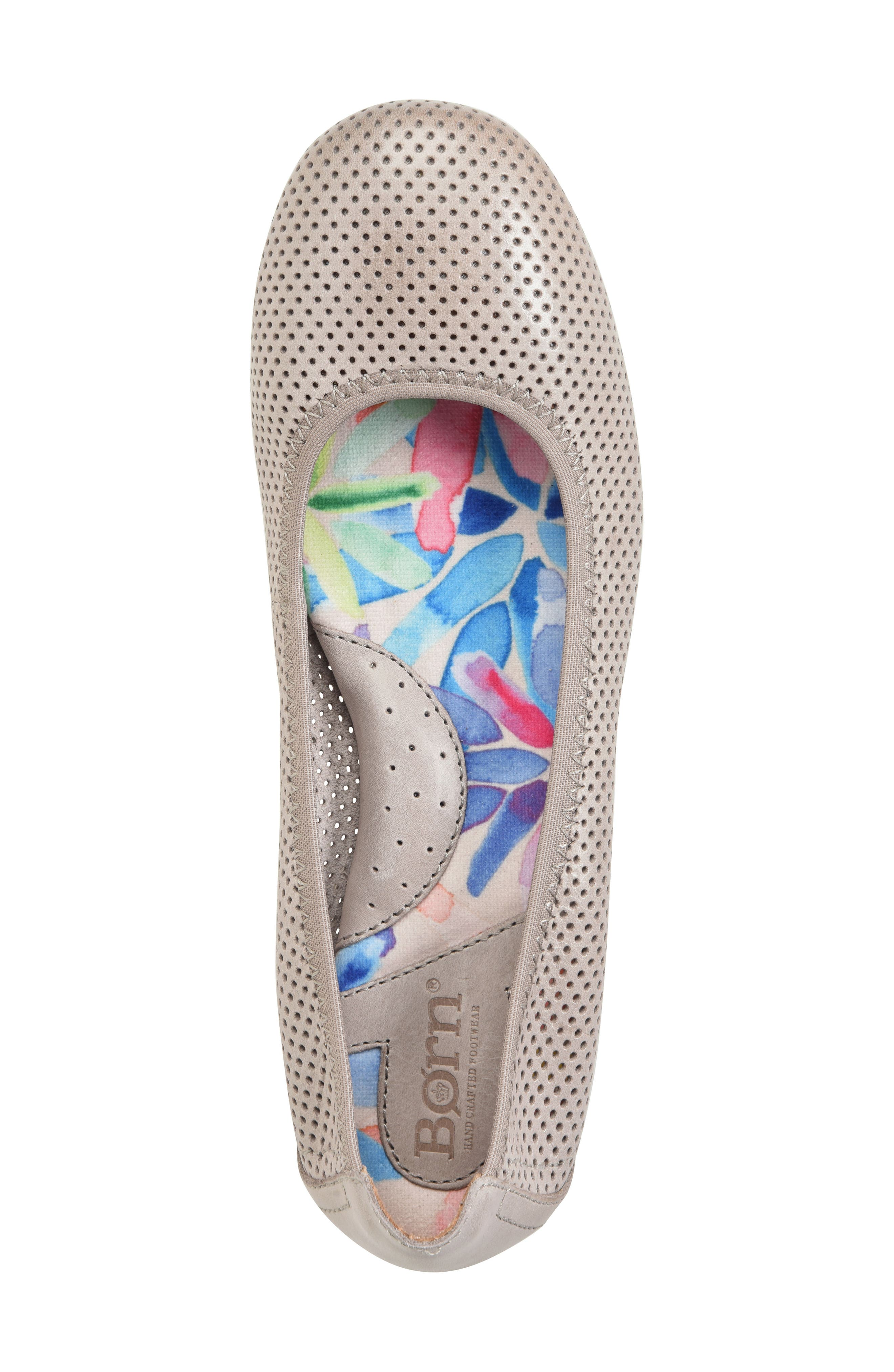 Julianne Perforated Flat,                             Alternate thumbnail 18, color,