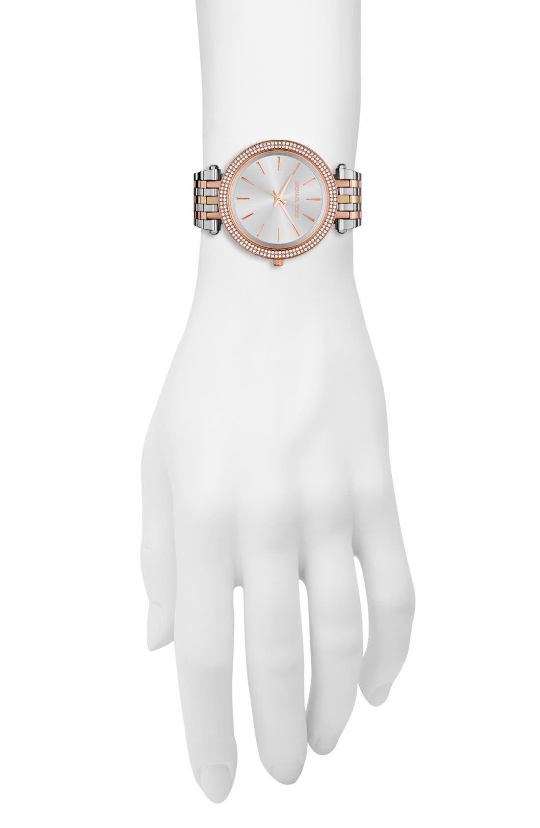 'Darci' Round Bracelet Watch, 39mm,                             Alternate thumbnail 2, color,                             TRI TONE