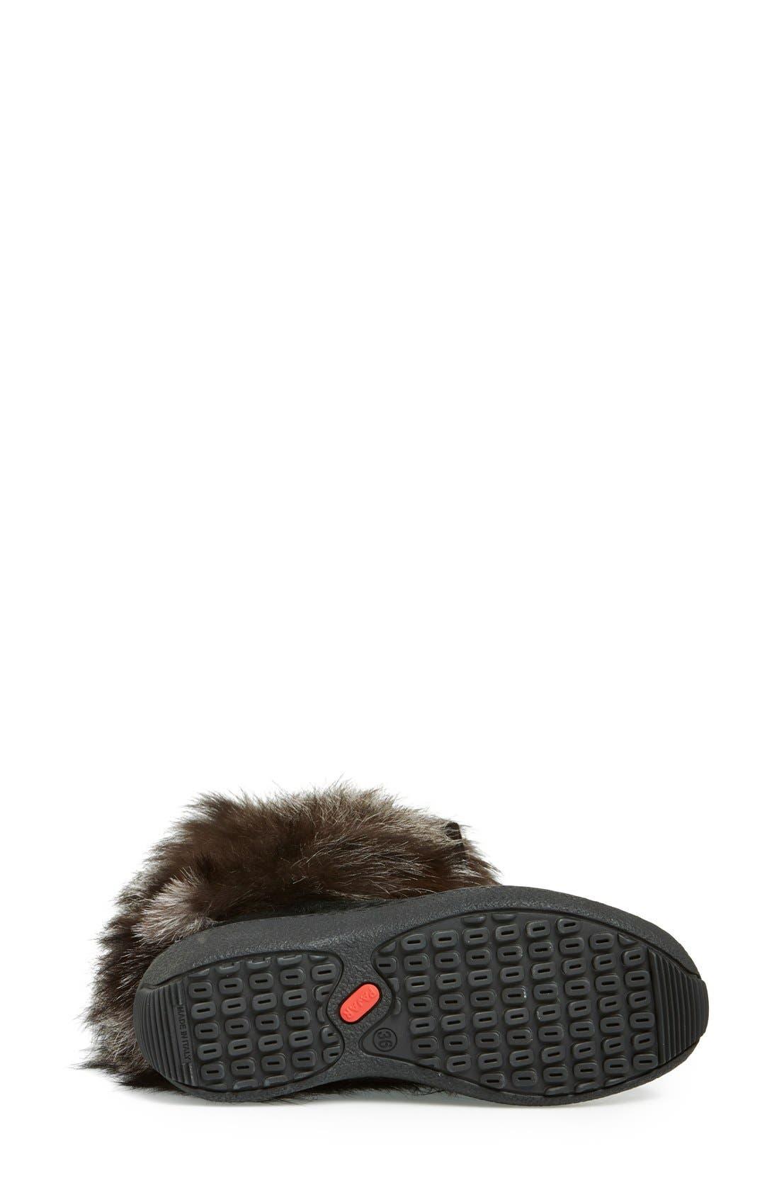'Fox Trot' Genuine Fox Fur & Calf Hair Boot,                             Alternate thumbnail 4, color,                             001