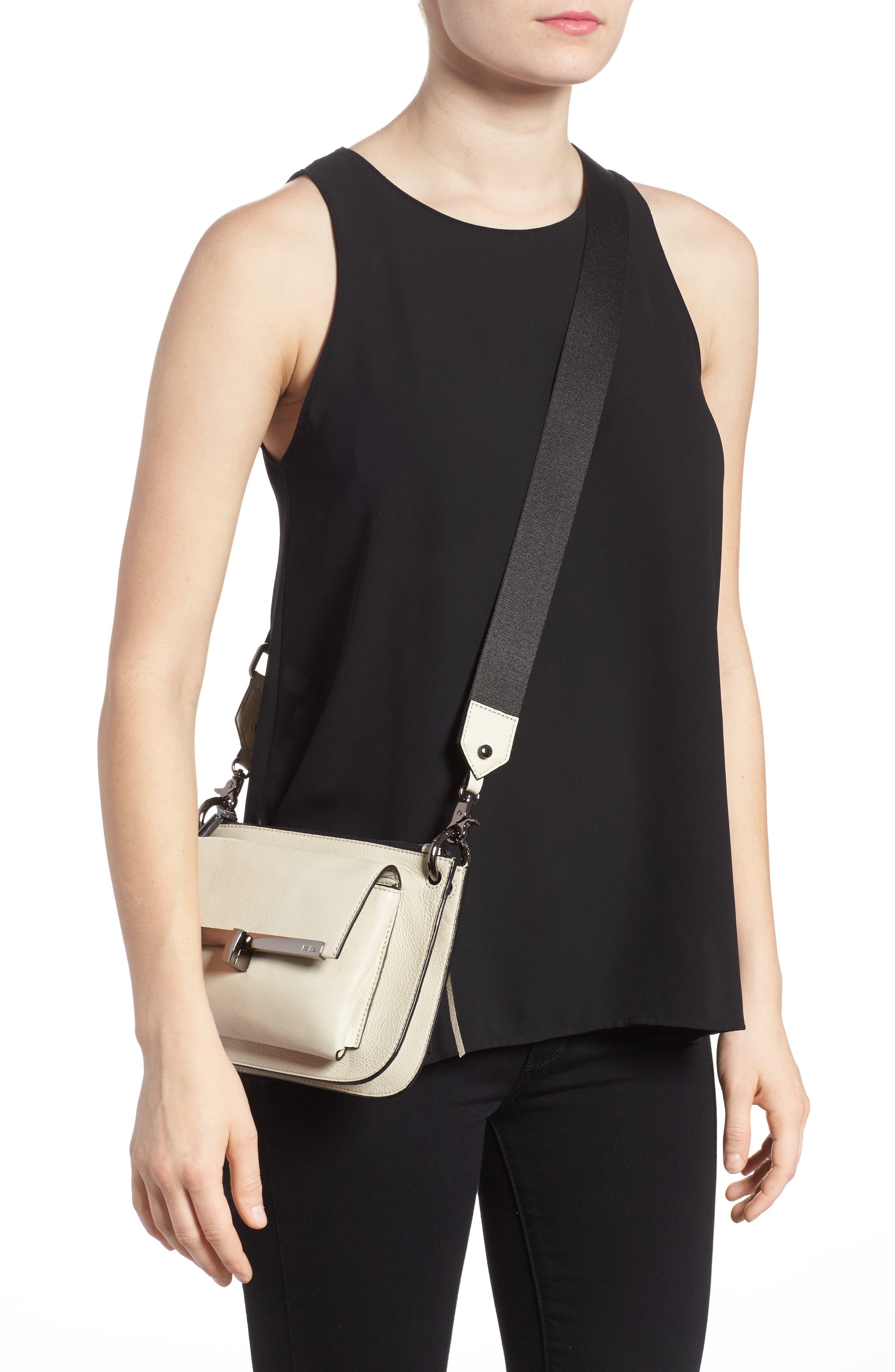 Bleeker Leather Double Shoulder Bag,                             Alternate thumbnail 12, color,