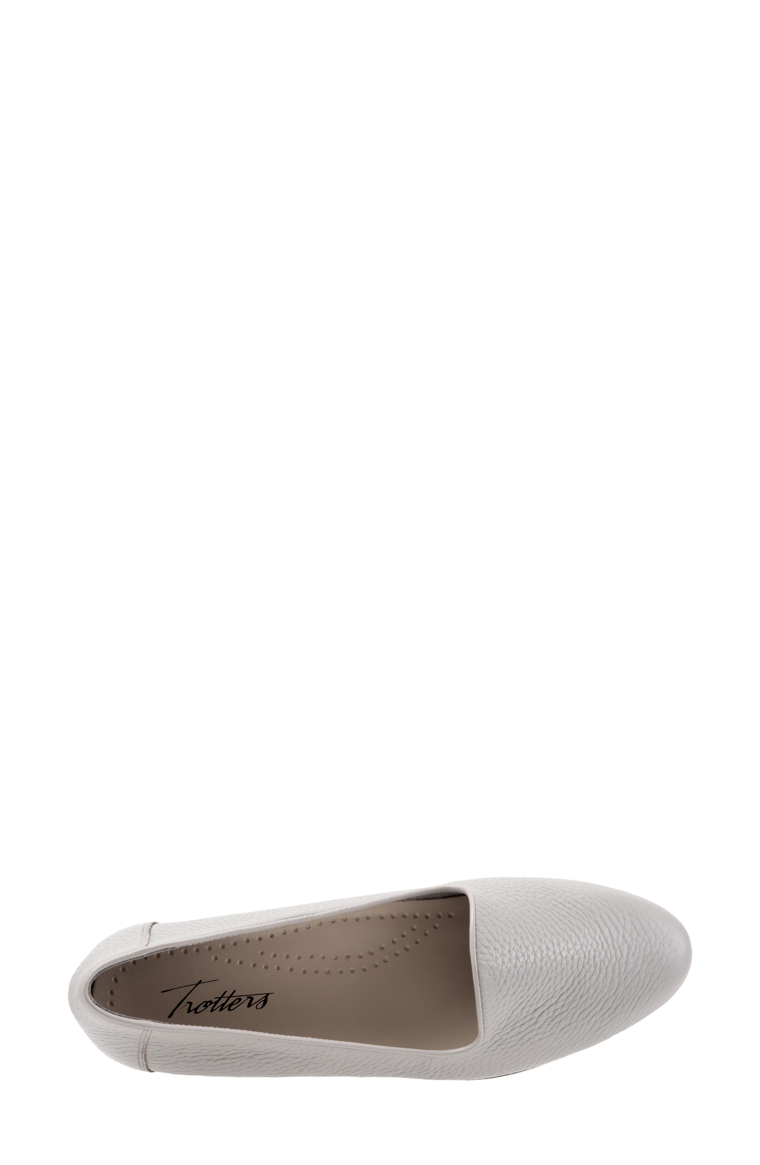 TROTTERS,                             Liz Loafer,                             Alternate thumbnail 5, color,                             GREY LEATHER