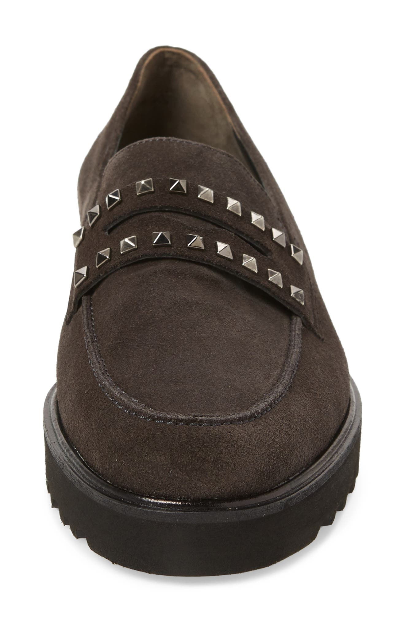 Sofia Loafer,                             Alternate thumbnail 4, color,                             ANTHRACITE SUEDE