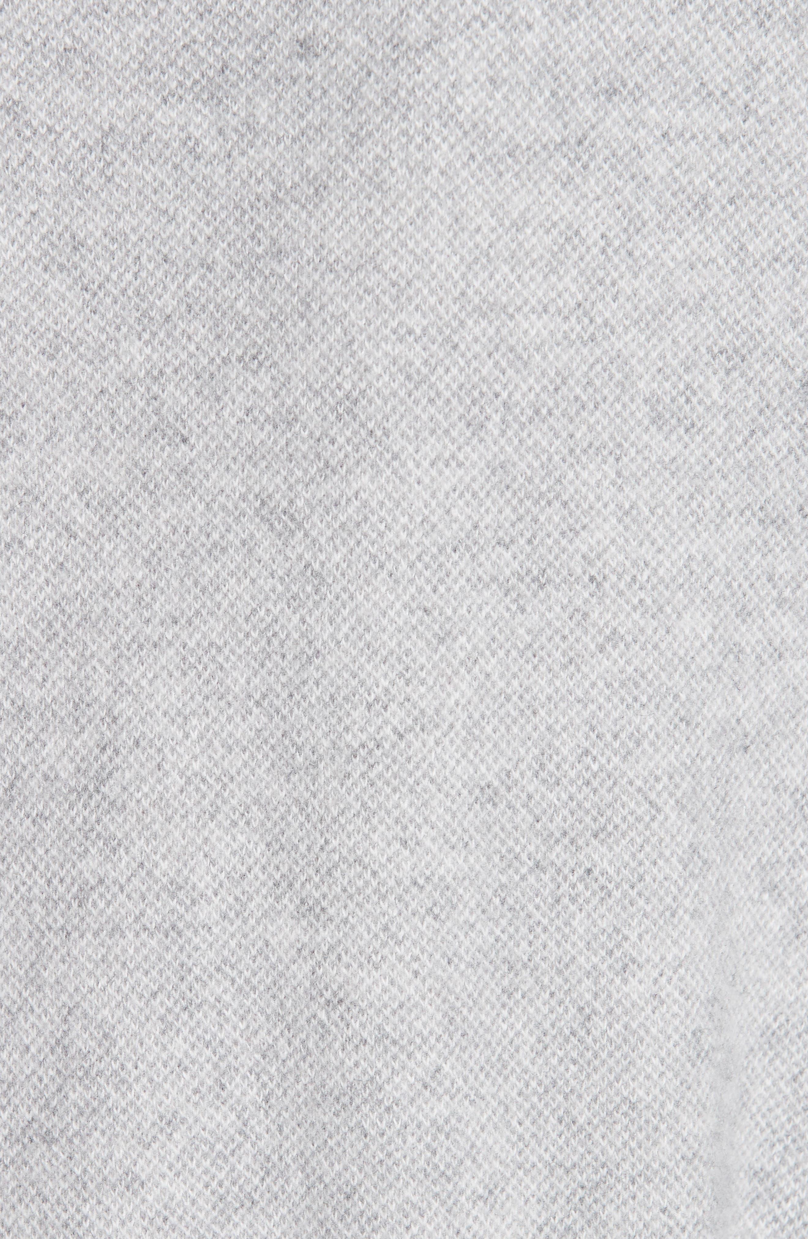 FABIANA FILIPPI,                             Suede Trim Tweed Jacket,                             Alternate thumbnail 6, color,                             GREY