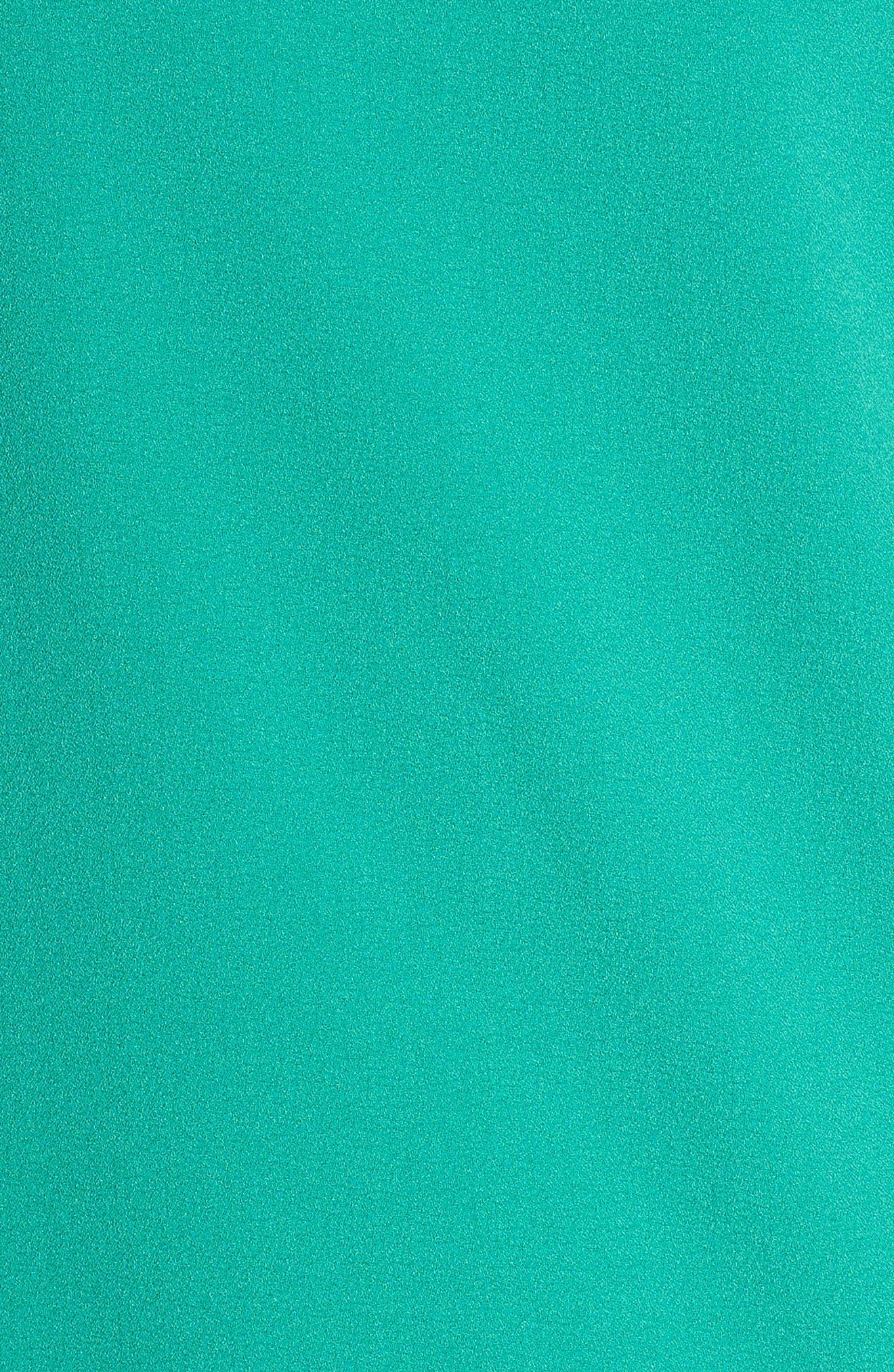 Devery Crepe Shift Dress,                             Alternate thumbnail 7, color,                             EMERALD GREEN