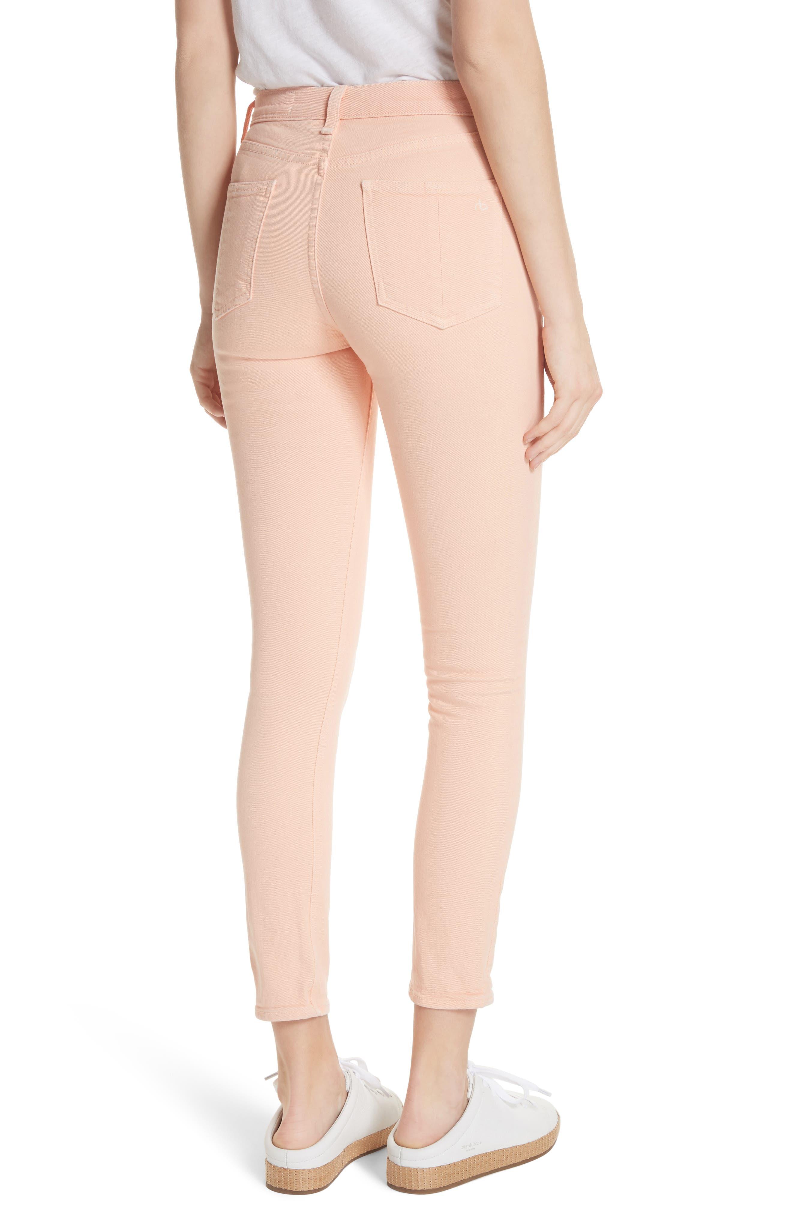 High Waist Ankle Skinny Jeans,                             Alternate thumbnail 2, color,
