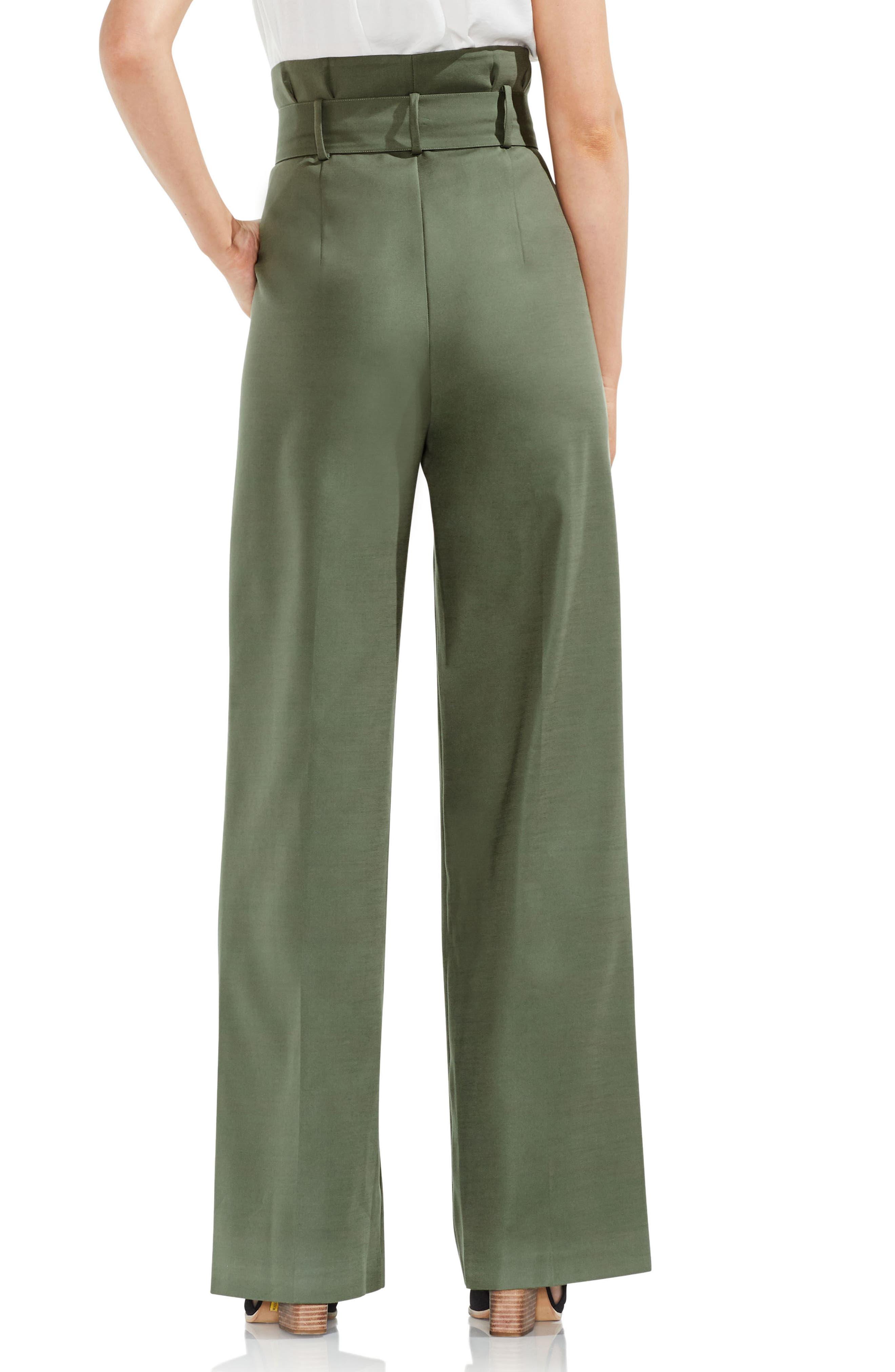 Wide Leg Belted Pants,                             Alternate thumbnail 4, color,