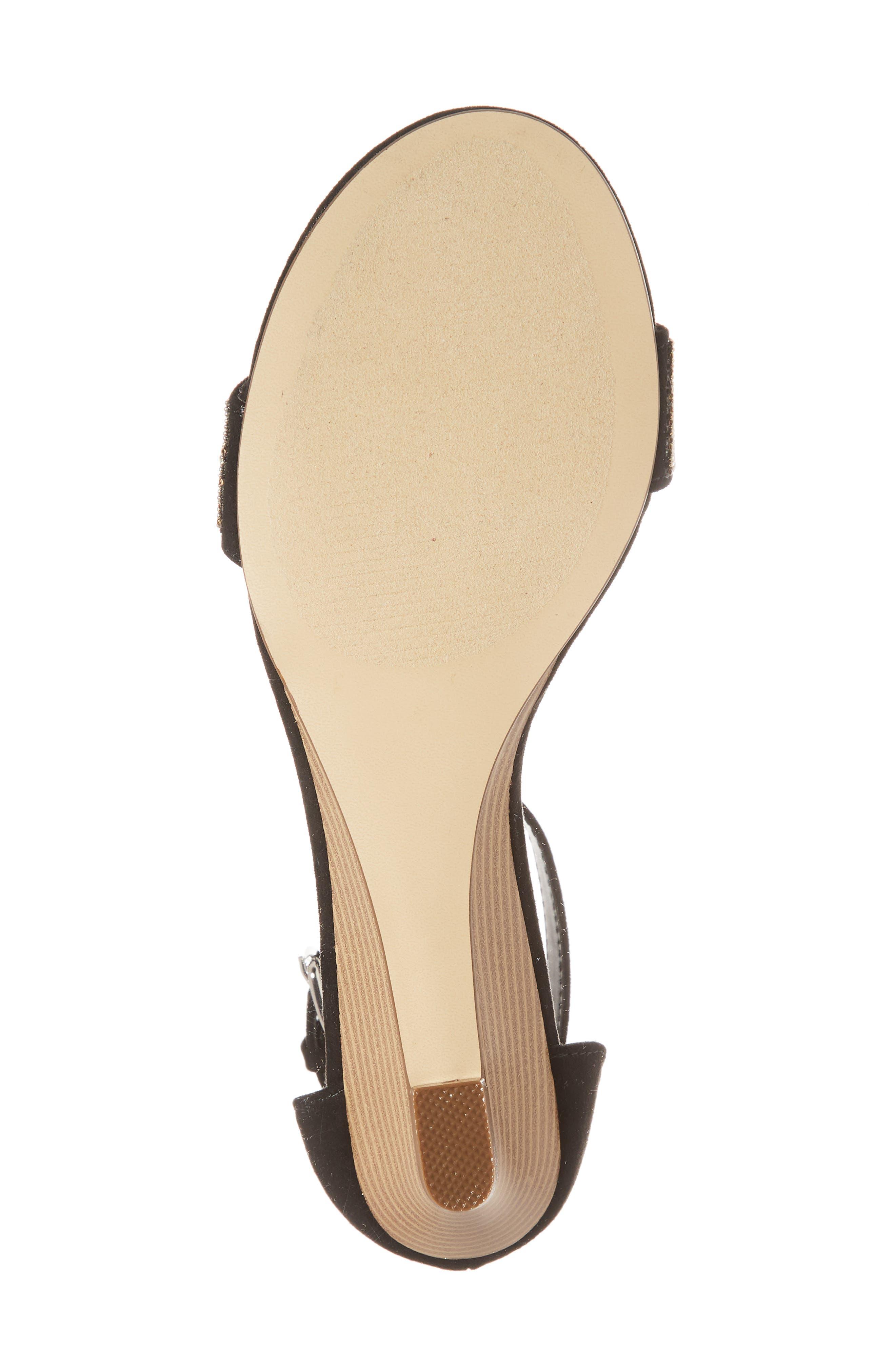 Enfield Ankle Strap Wedge Sandal,                             Alternate thumbnail 6, color,                             003