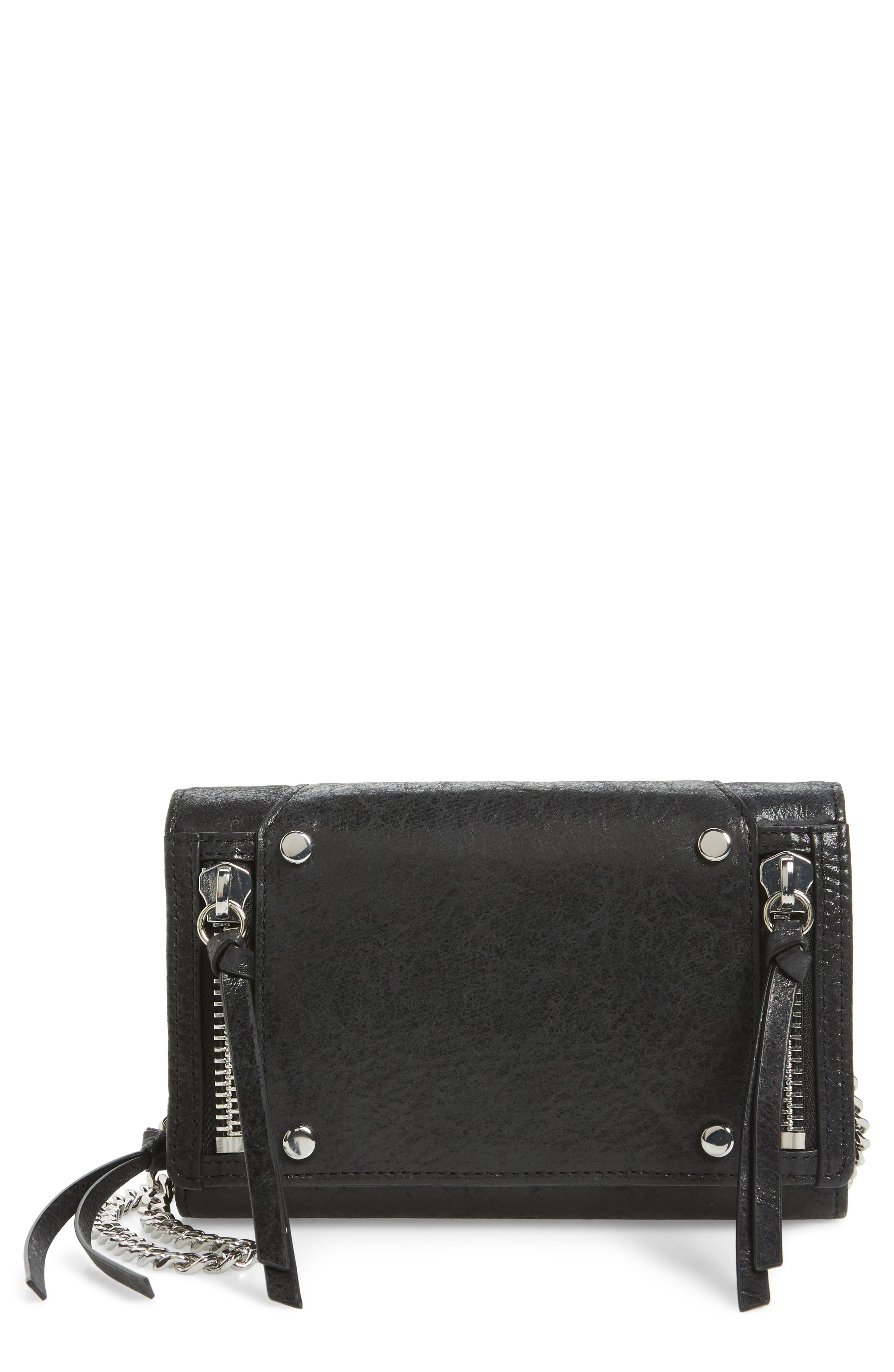 Logan Leather Crossbody Wallet,                             Main thumbnail 1, color,
