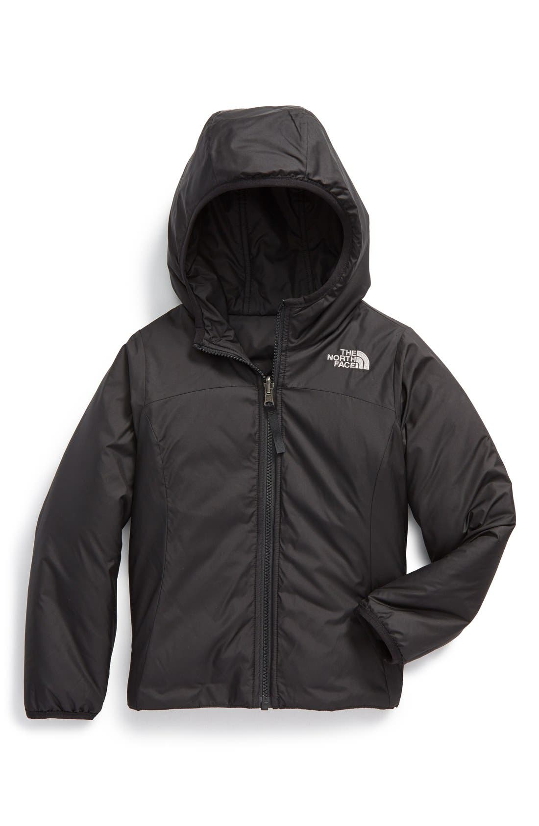 THE NORTH FACE,                             'Perseus' Water Repellent Heatseeker<sup>™</sup> Insulated Hooded Reversible Jacket,                             Alternate thumbnail 2, color,                             001