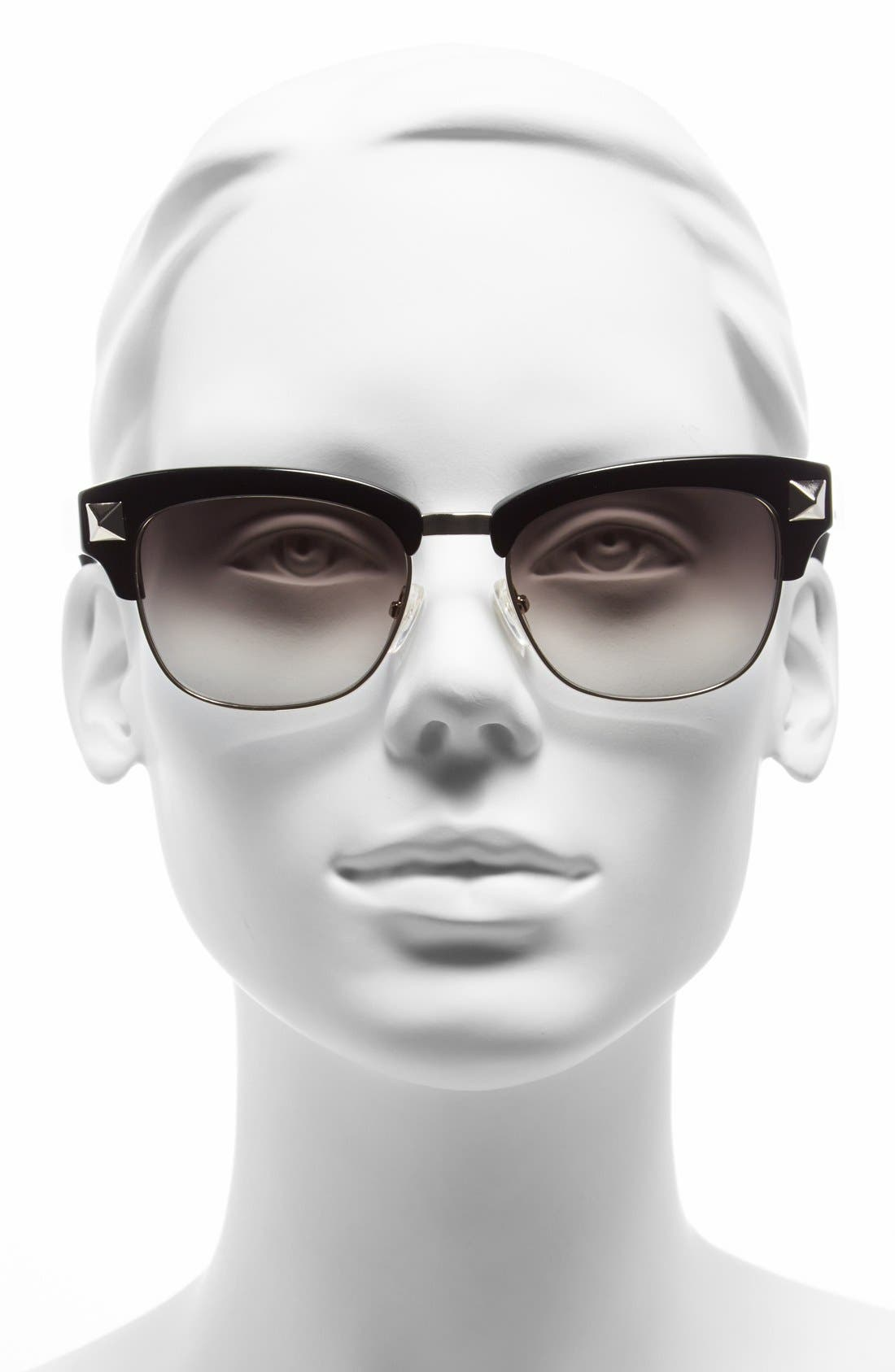 'Rockstud' 53mm Sunglasses,                             Alternate thumbnail 2, color,                             001