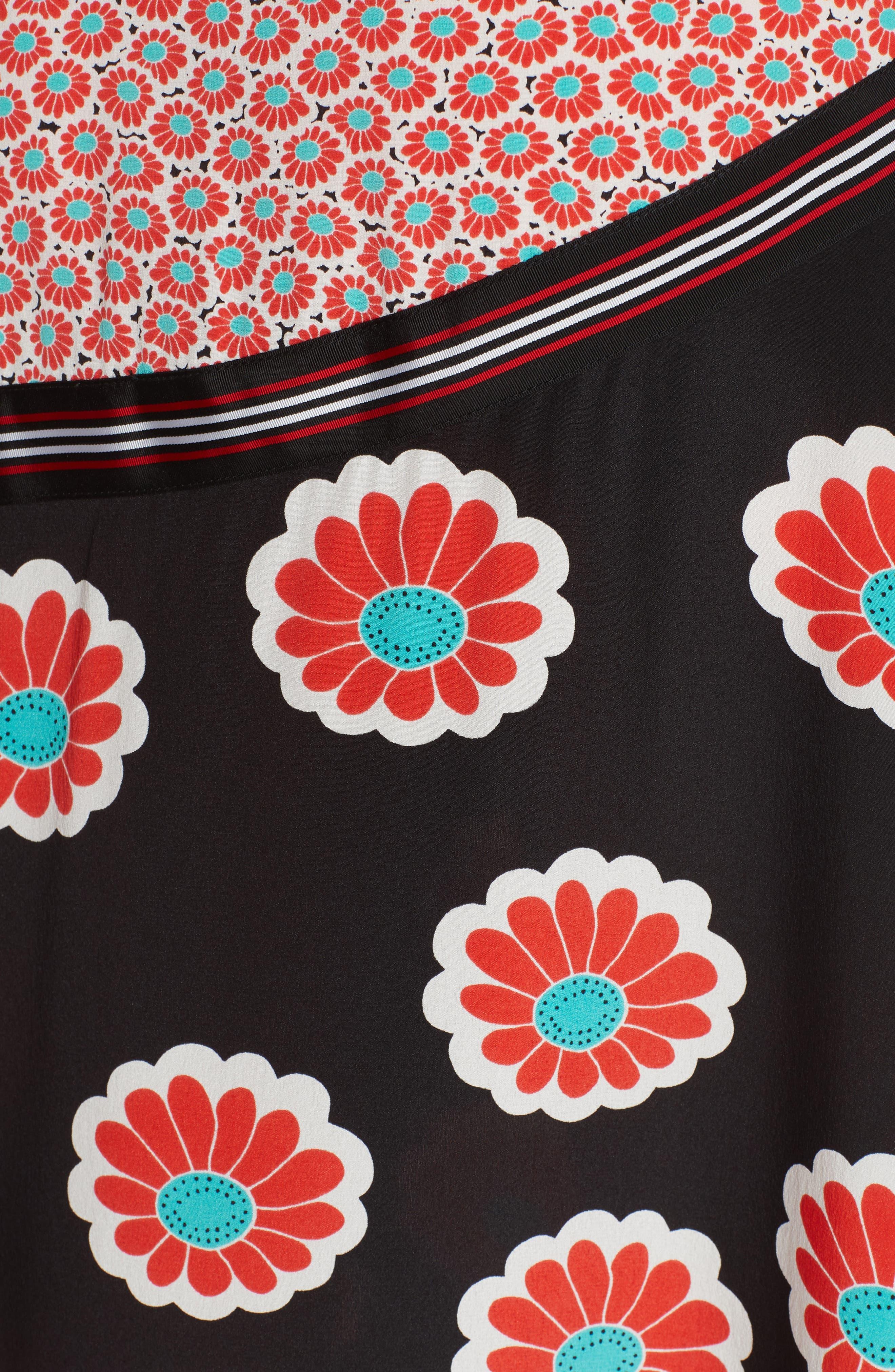 Taylor Wrap Maxi Skirt,                             Alternate thumbnail 5, color,                             KIMONO BLOSSOM BLACK MULTI