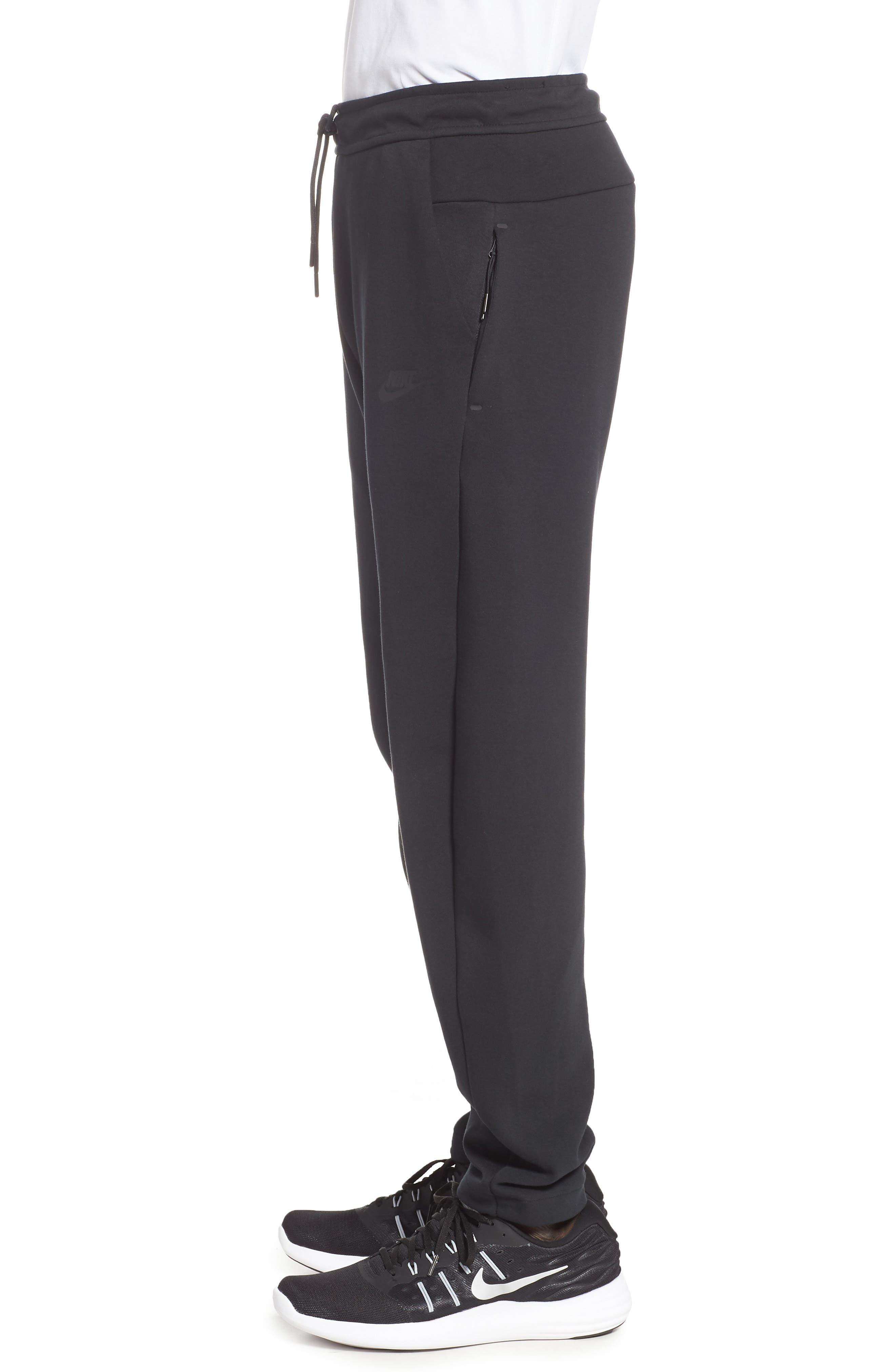 Tech Fleece Pants,                             Alternate thumbnail 3, color,                             BLACK/ BLACK