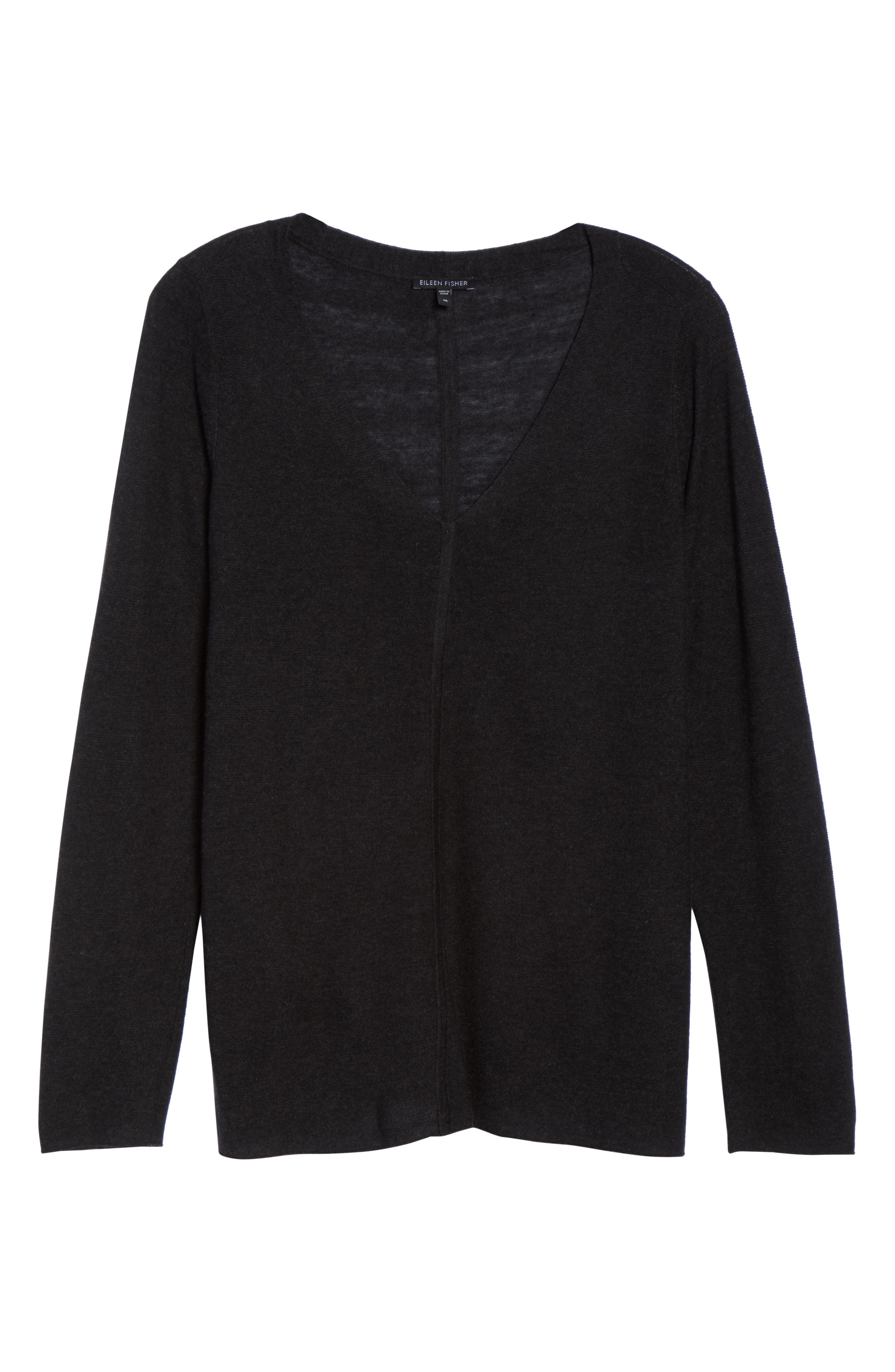 V-Neck Sweater,                             Alternate thumbnail 6, color,                             021