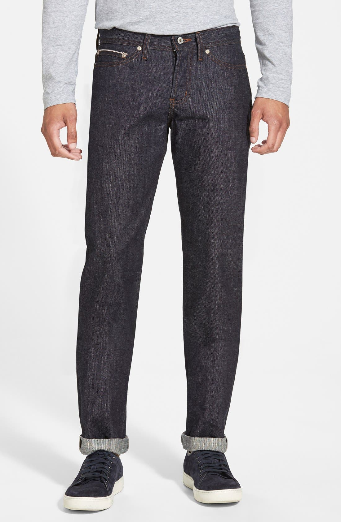 'Weird Guy' Shrink To Fit Slim Fit Jeans,                             Main thumbnail 1, color,                             400