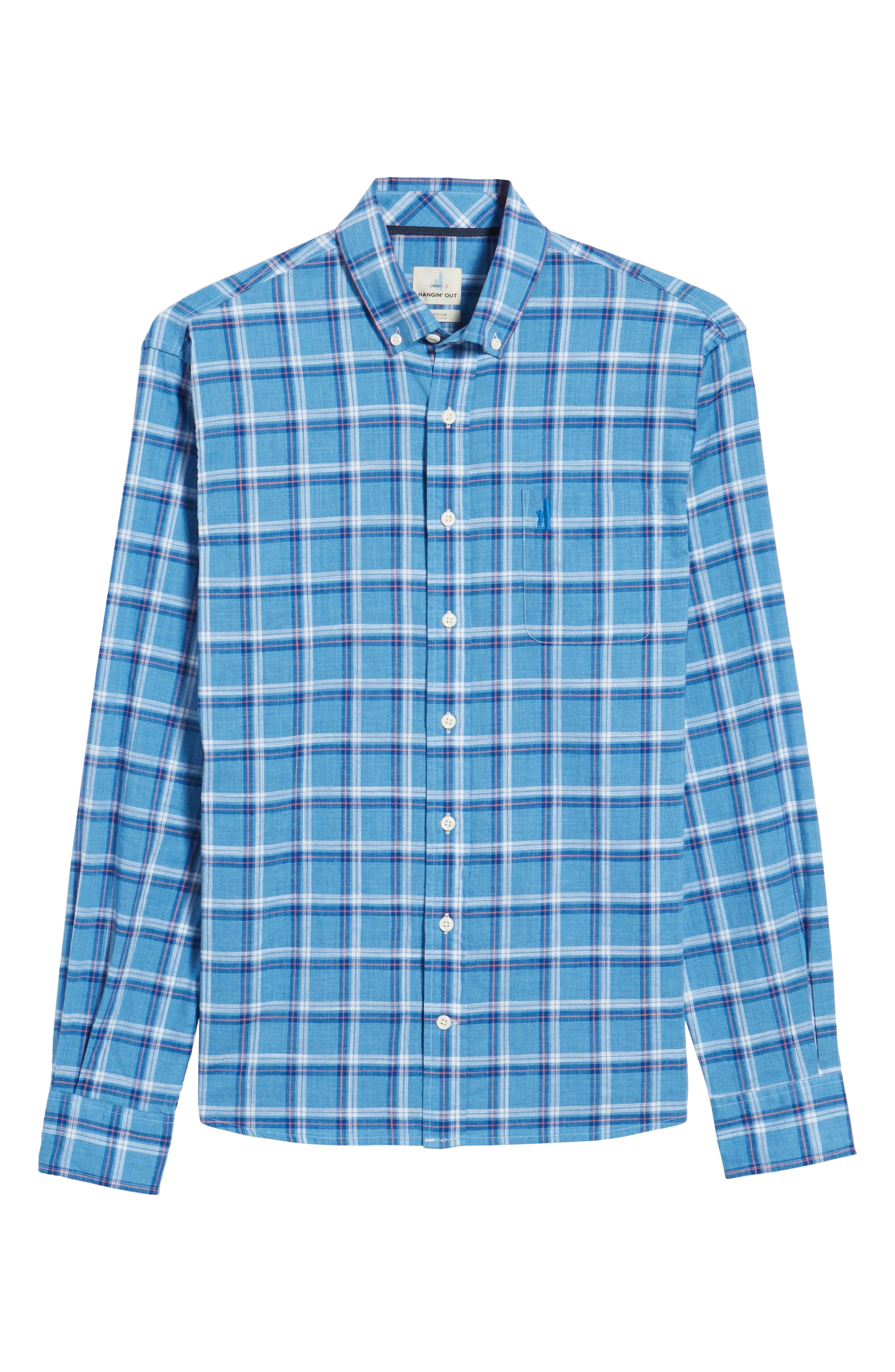 Davis Regular Fit Sport Shirt,                             Alternate thumbnail 6, color,                             200