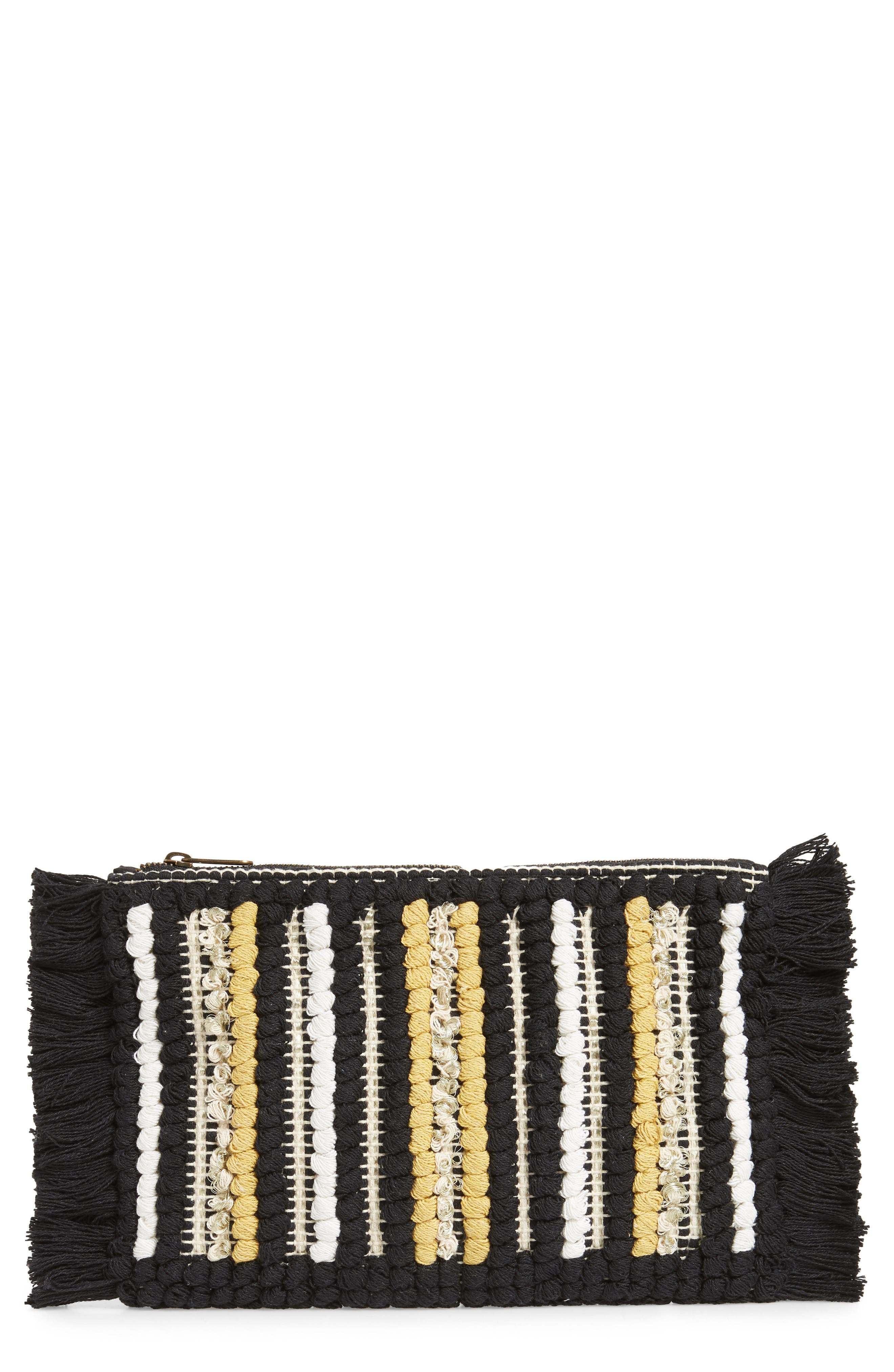 Rayas Clutch,                         Main,                         color, BLACK