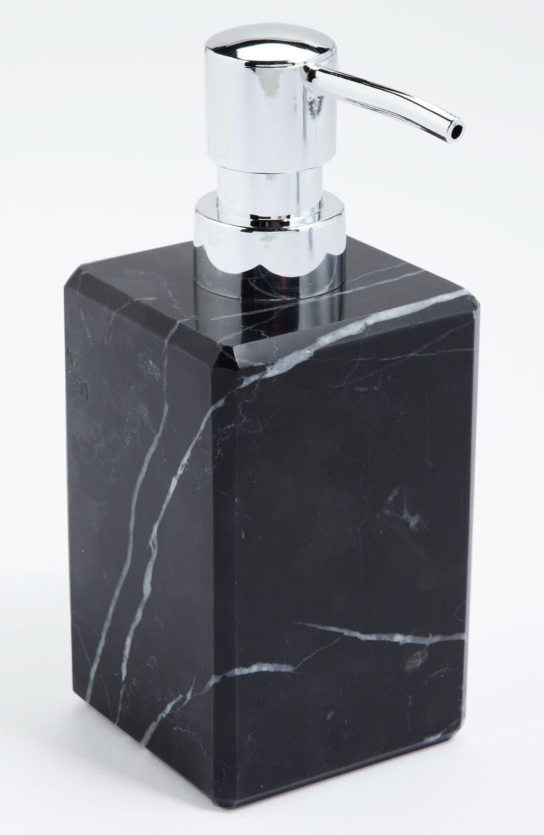 Studio 'Luna' Black Marble Soap Dispenser,                         Main,                         color, BLACK