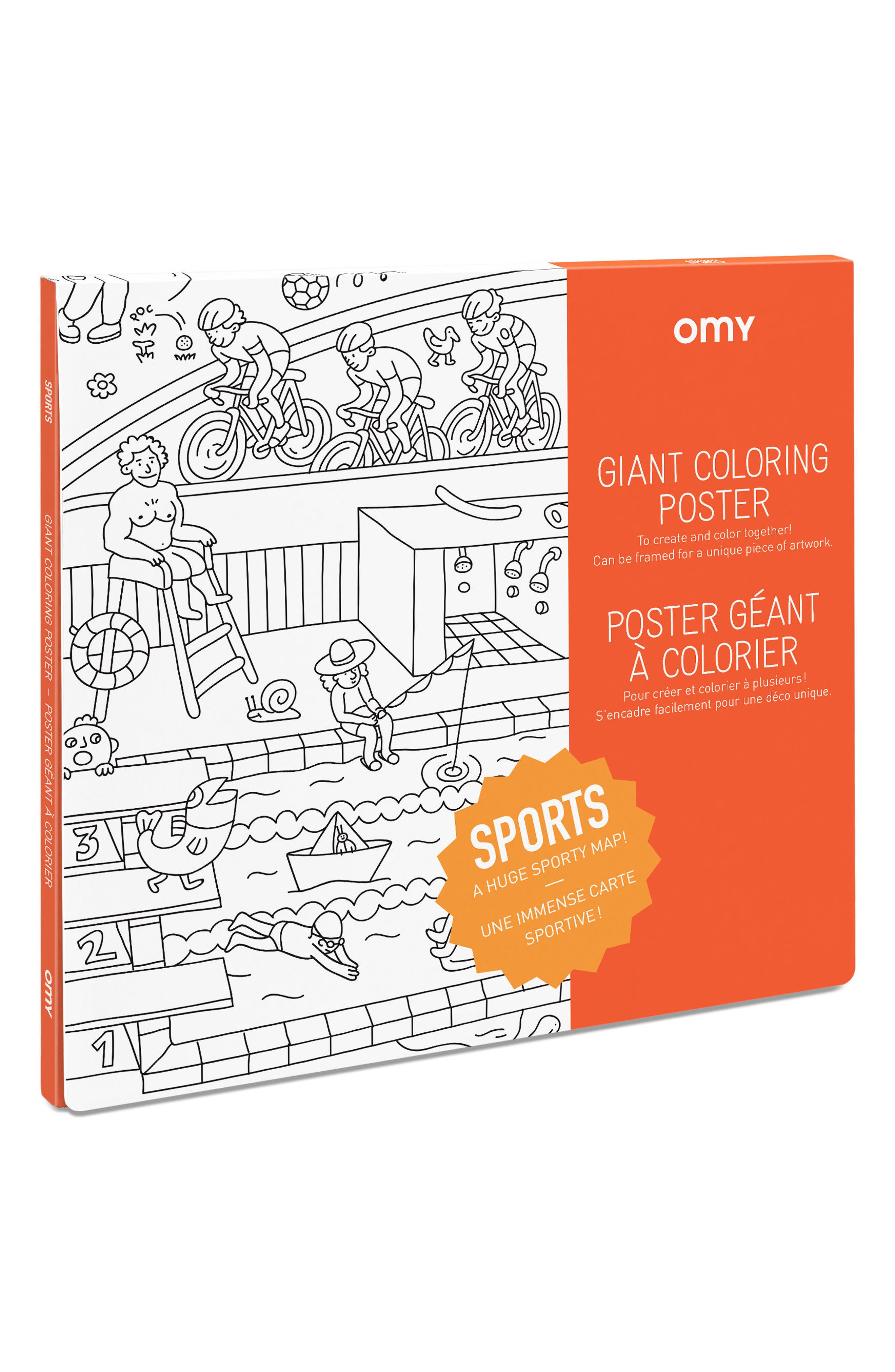 Sports Giant Coloring Poster,                             Main thumbnail 1, color,                             100