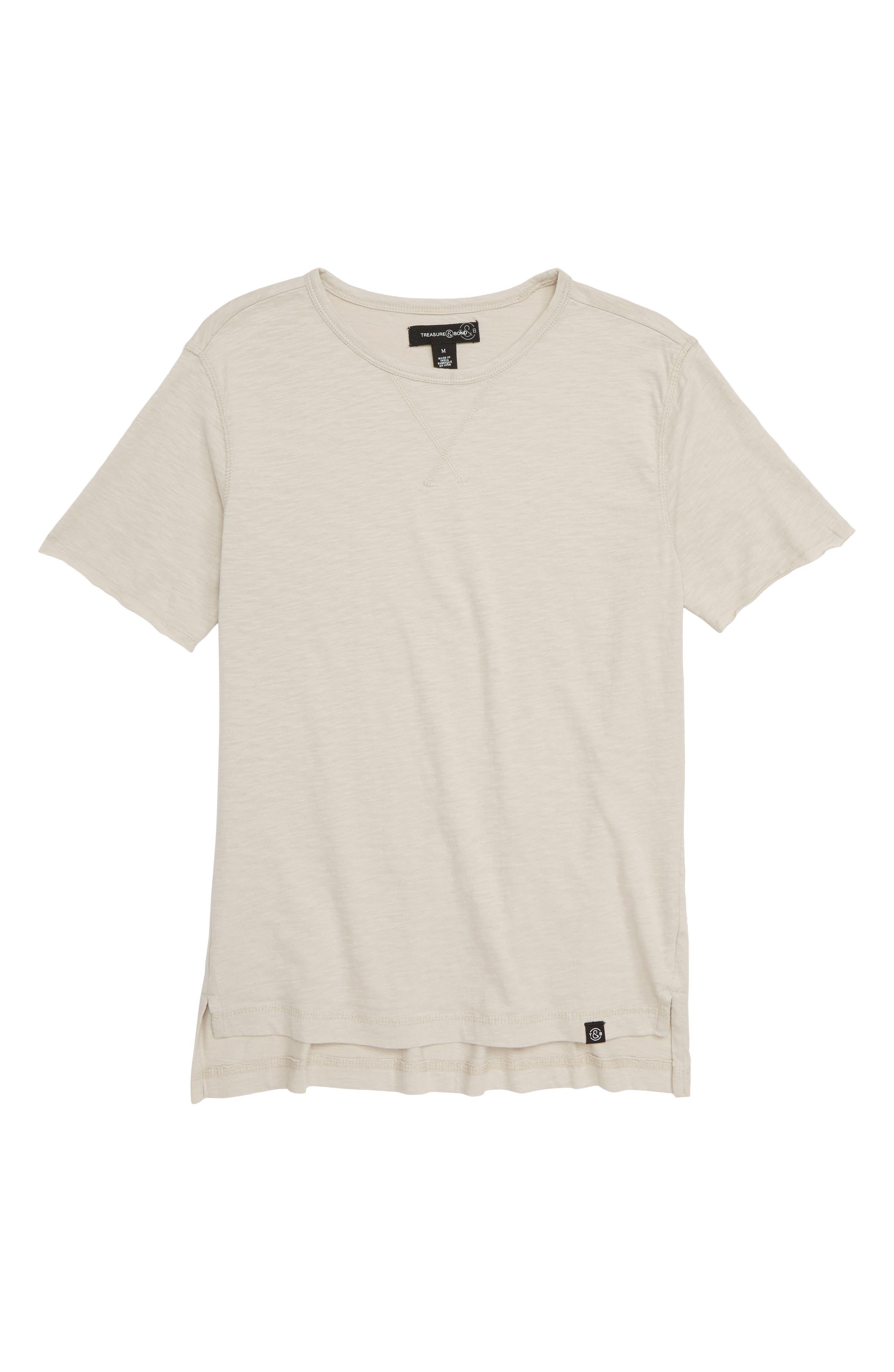 Washed T-Shirt,                             Main thumbnail 1, color,                             GREY CHATEAU