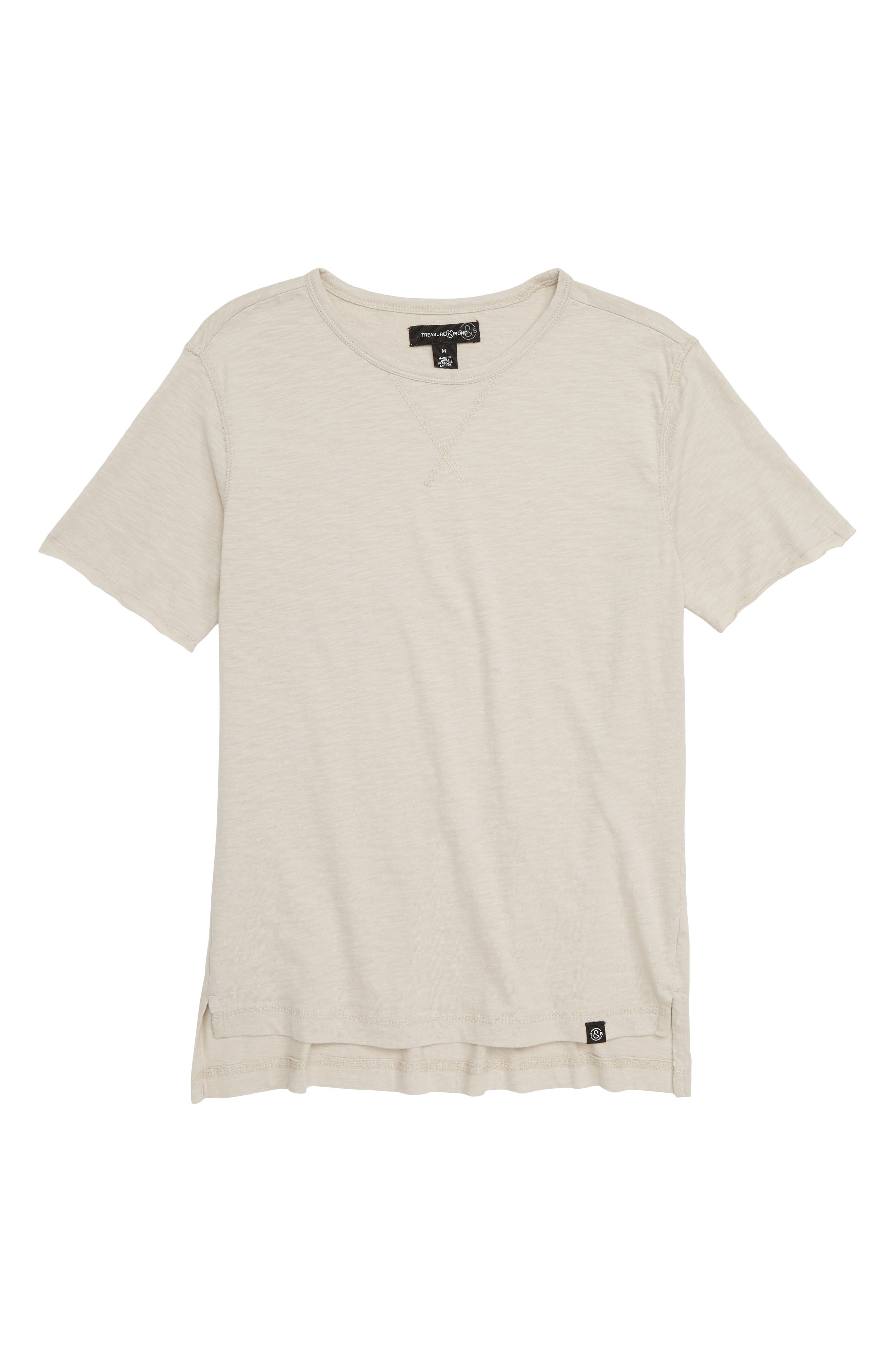 Washed T-Shirt,                         Main,                         color, GREY CHATEAU