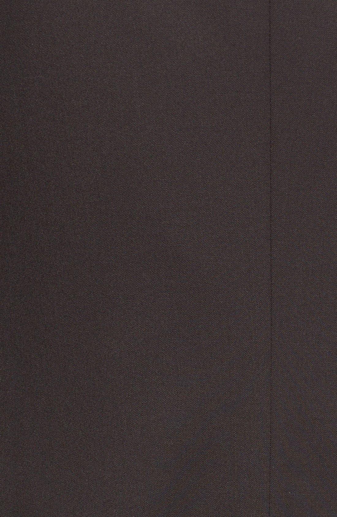 Trim Fit Wool Tuxedo,                             Alternate thumbnail 7, color,                             BLACK