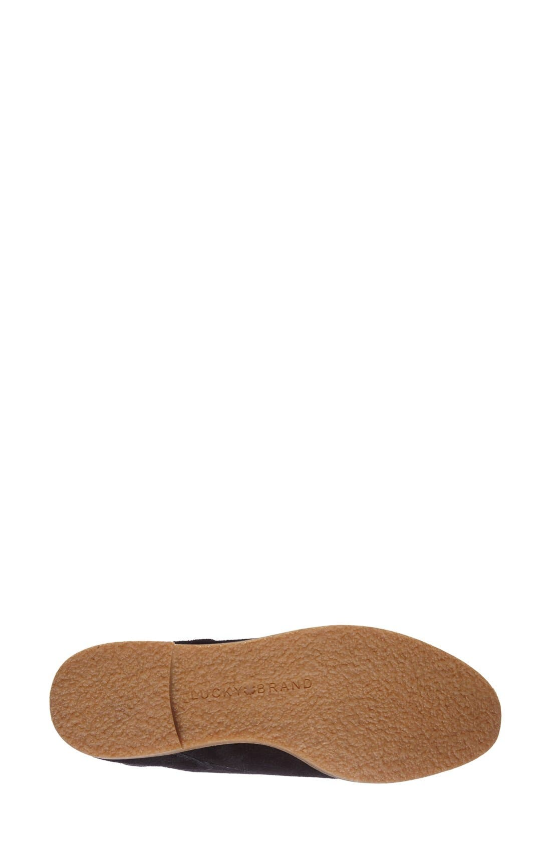 LuckyBrand'Garboh'Lace-UpBootie,                             Alternate thumbnail 3, color,                             001