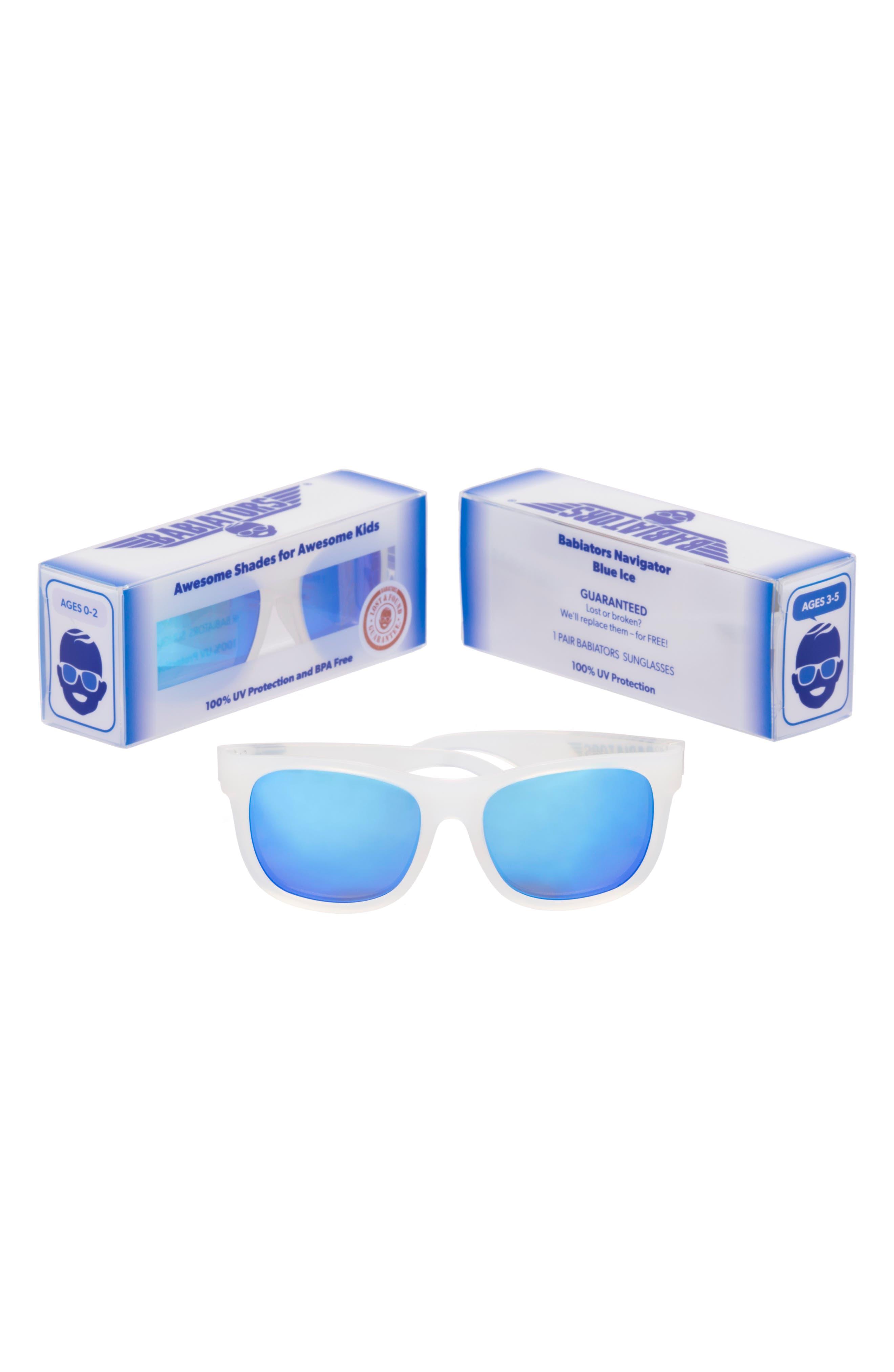Original Navigator Sunglasses,                             Alternate thumbnail 3, color,                             BLUE ICE