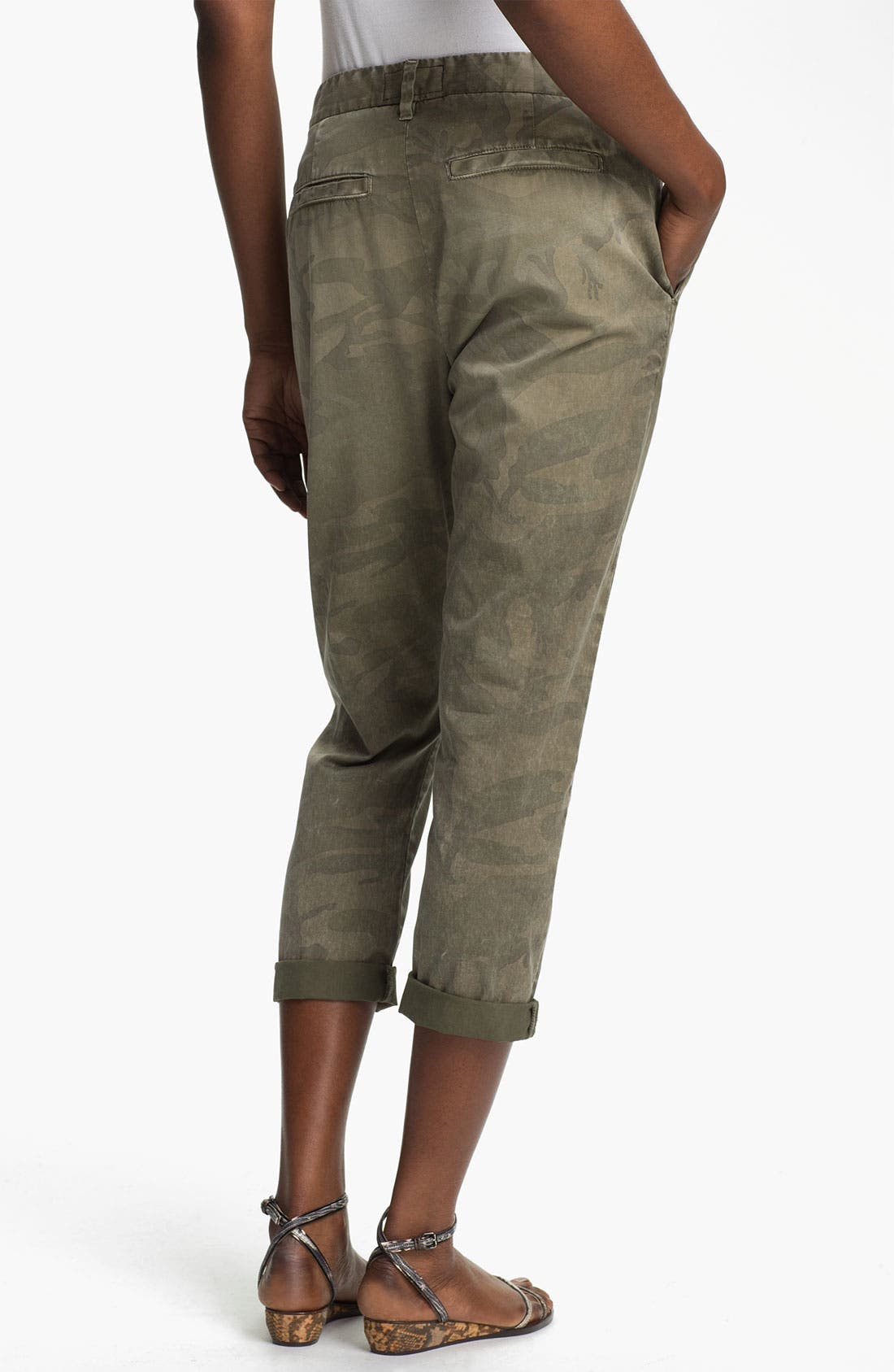 'The Buddy' Print Twill Trousers,                             Alternate thumbnail 6, color,                             314