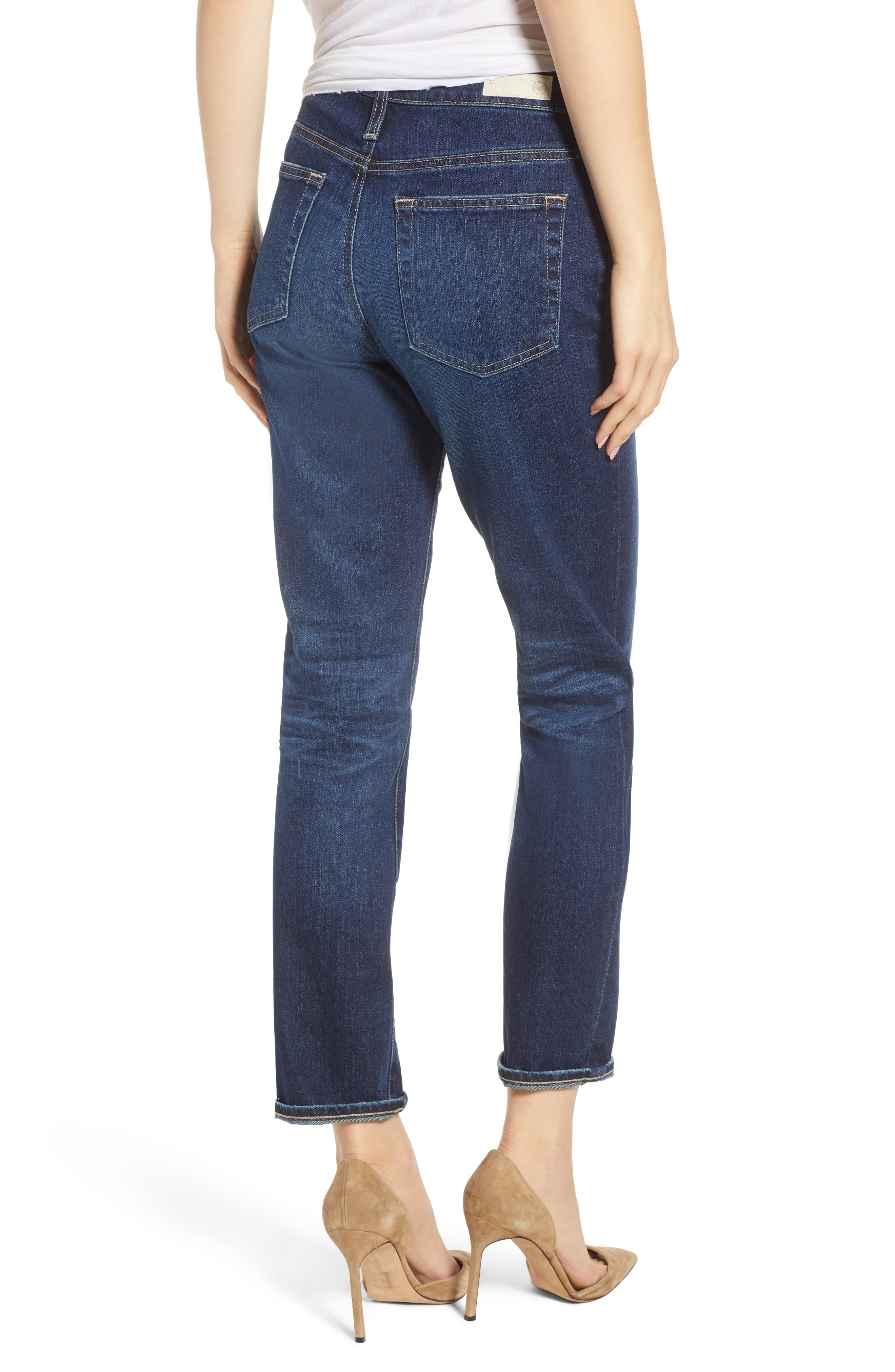 The Isabelle High Waist Crop Straight Leg Jeans,                             Alternate thumbnail 2, color,                             12 YEARS VERBIAGE
