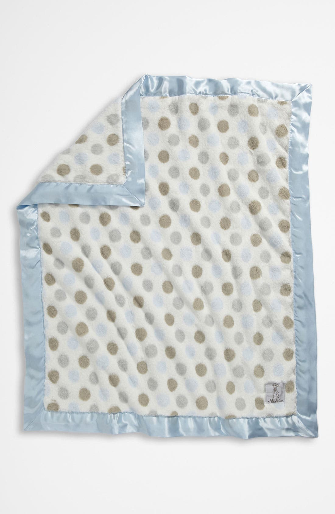 'Luxe Dot' Blanket,                             Alternate thumbnail 3, color,                             BLUE