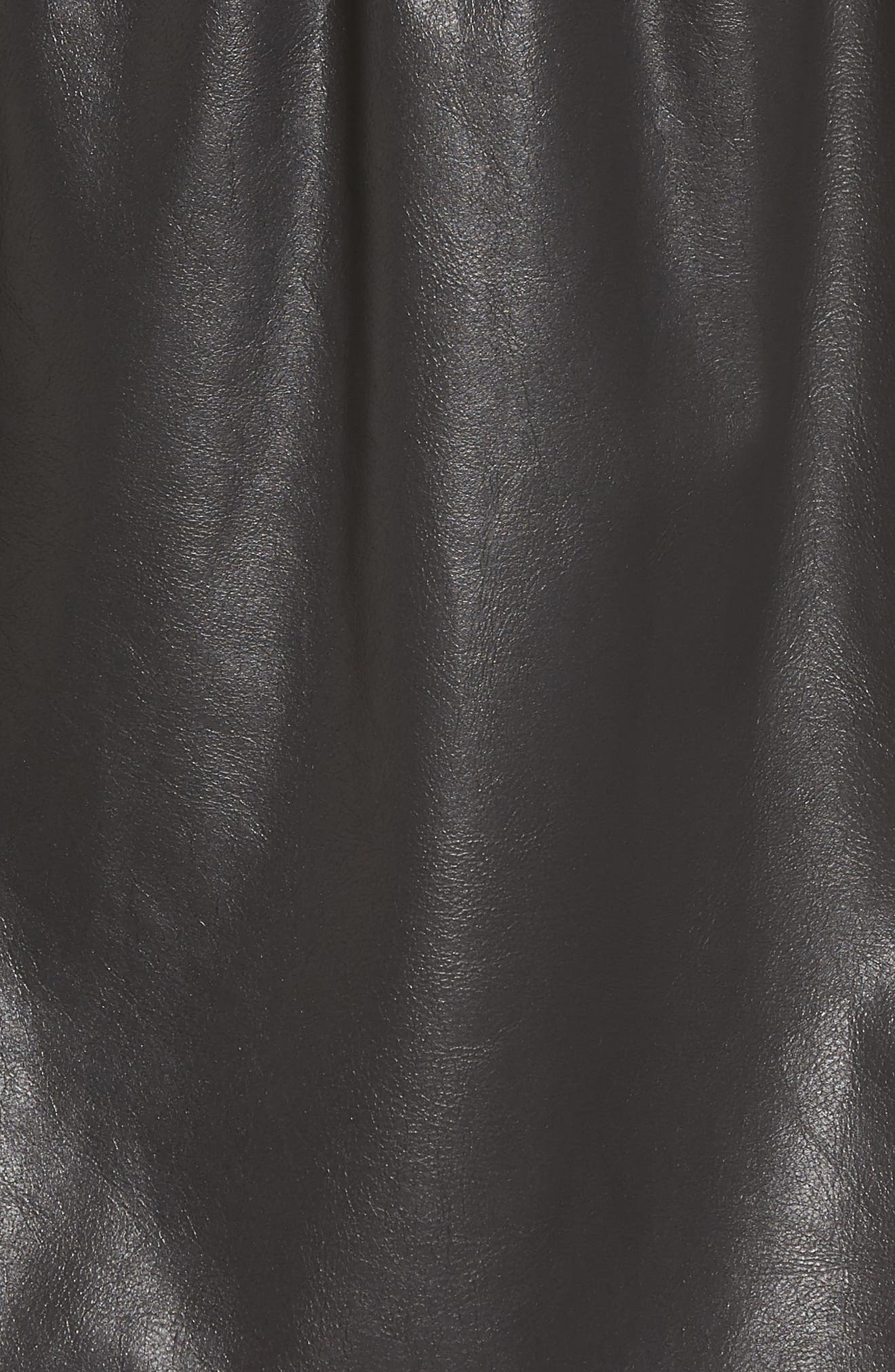 Faux Leather Paperbag Skirt,                             Alternate thumbnail 5, color,                             001