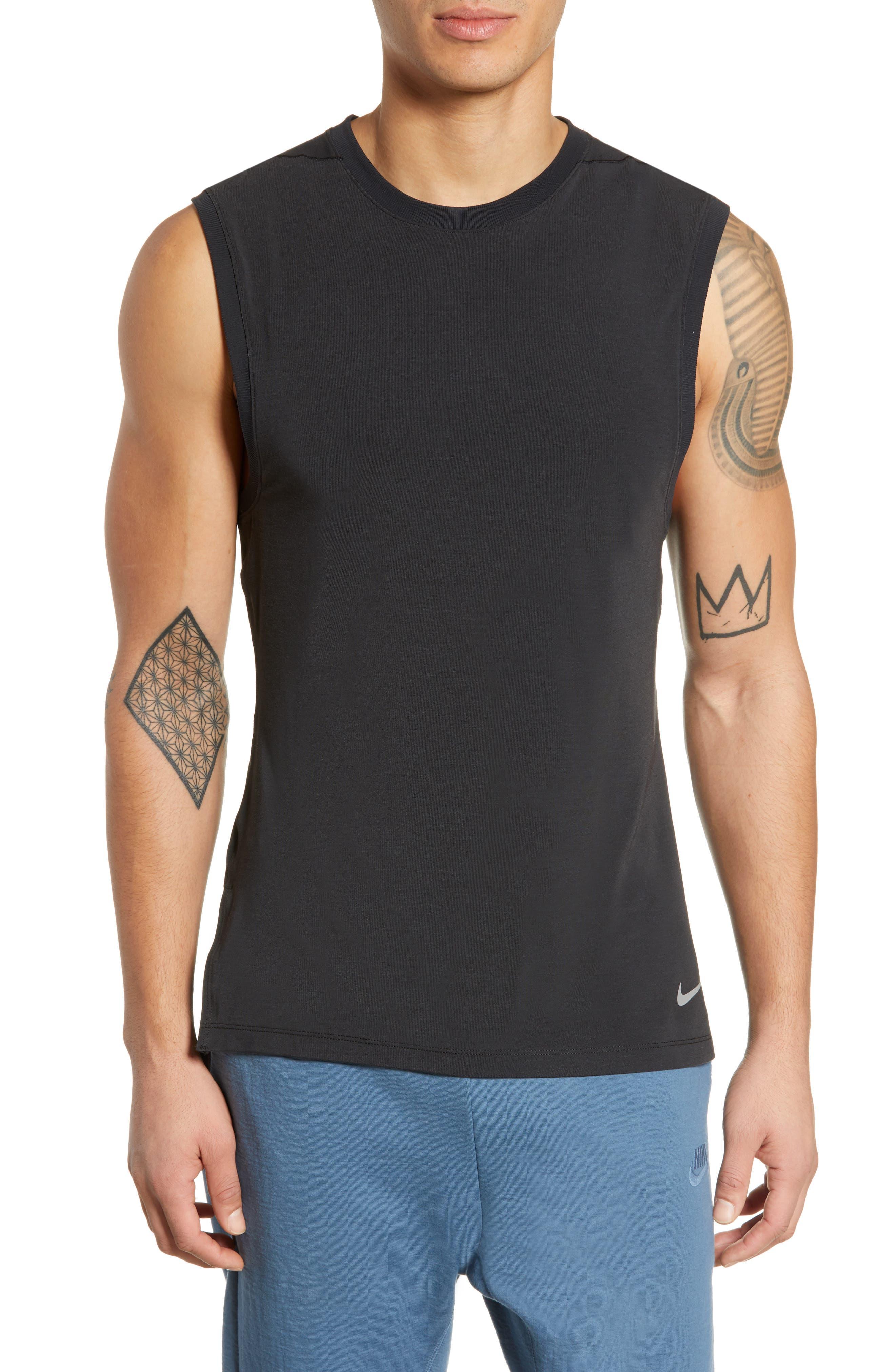 Nike Dry Transcent Sleeveless T-Shirt Black