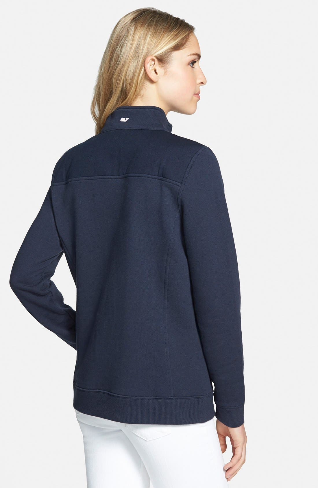Shep Half Zip French Terry Pullover,                             Alternate thumbnail 8, color,                             VINEYARD NAVY