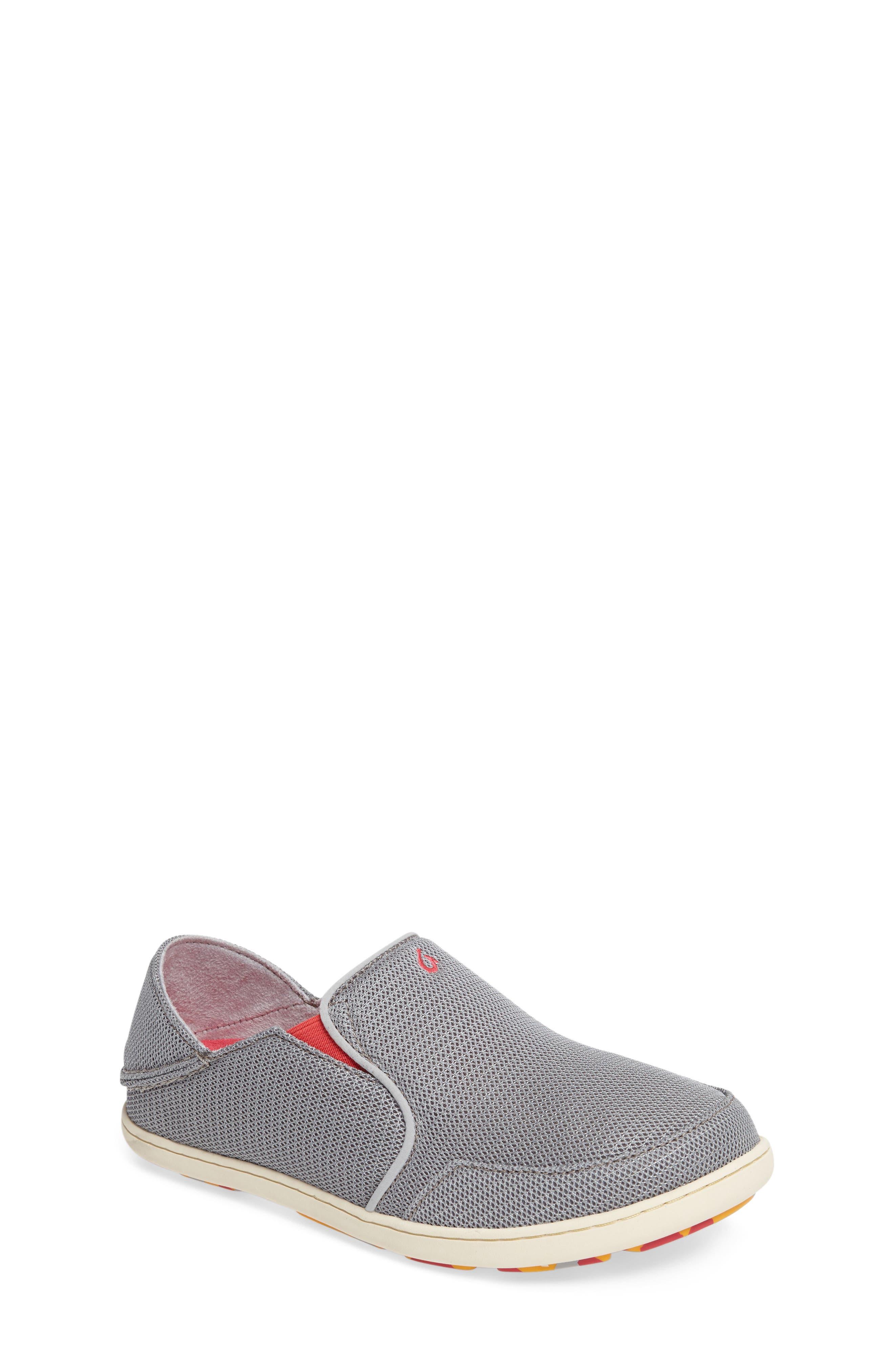 'Nohea' Mesh Shoe,                         Main,                         color, PALE GREY/ DARK HIBISCUS
