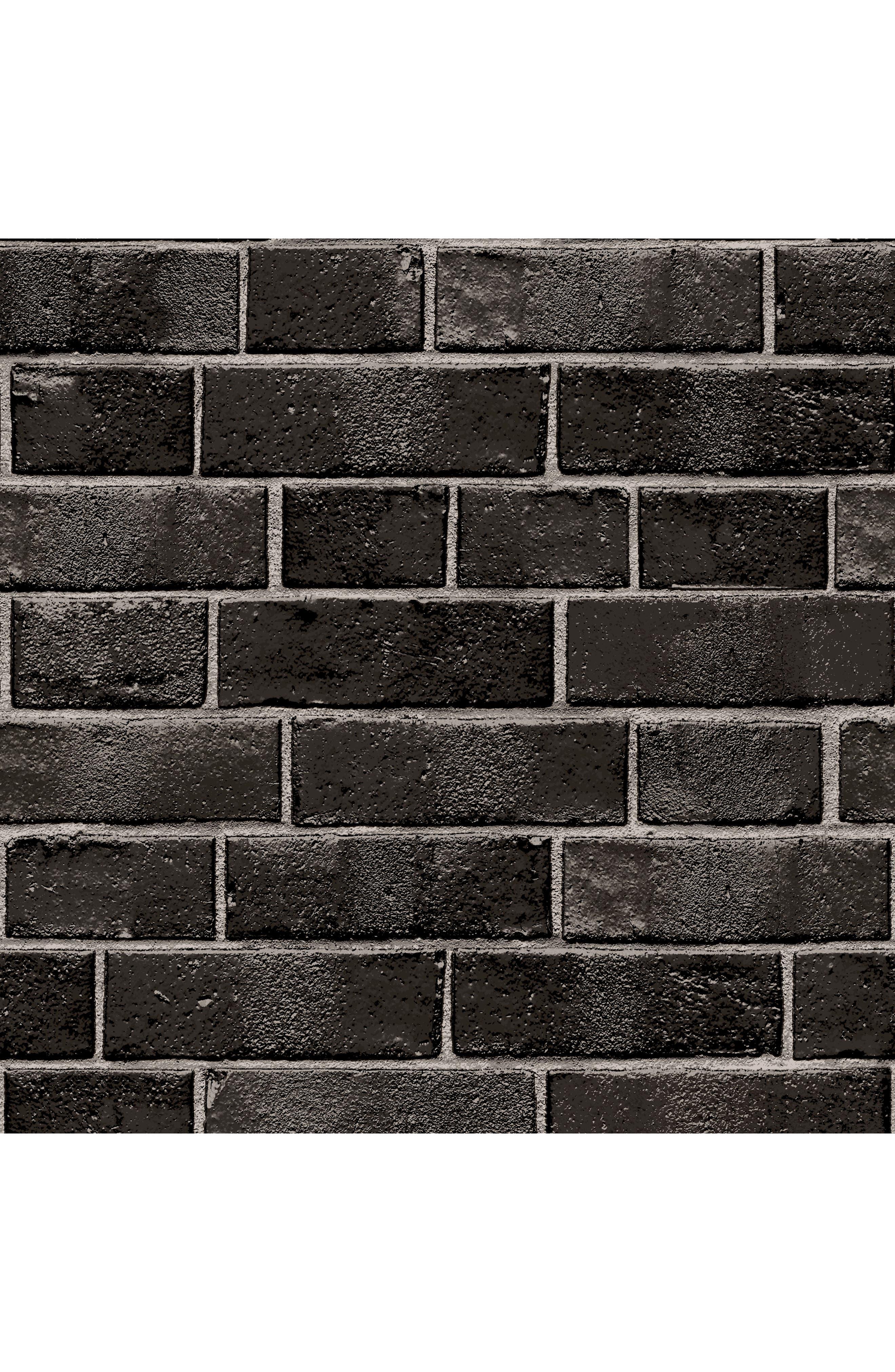 Brick Self-Adhesive Vinyl Wallpaper,                             Main thumbnail 1, color,                             001