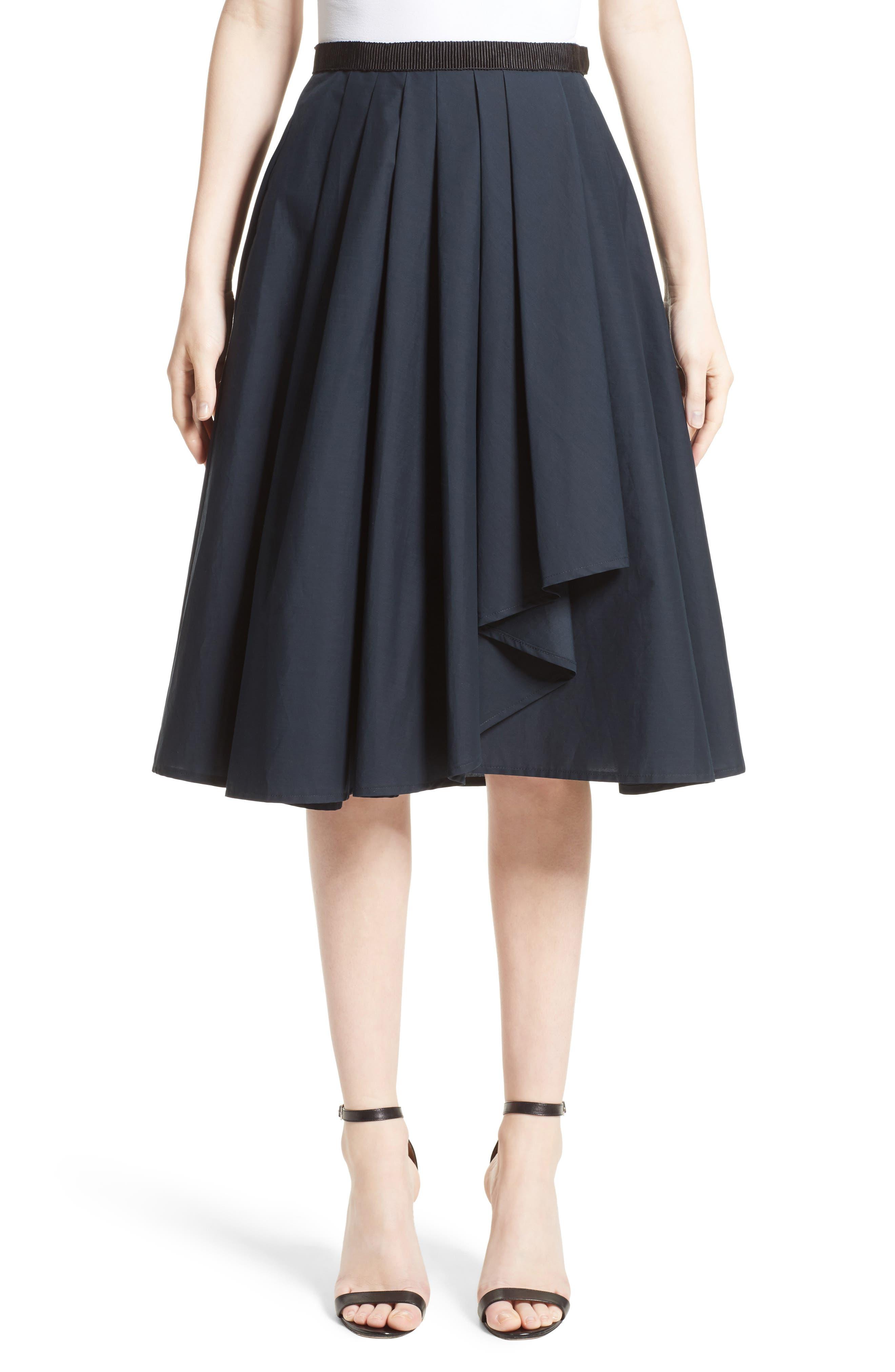 Ruffle Cotton A-Line Skirt,                         Main,                         color,