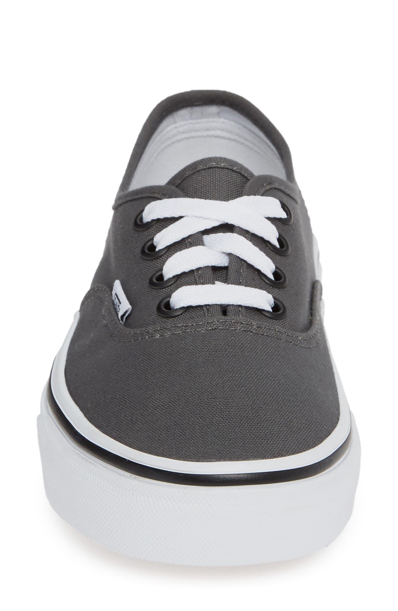 'Authentic' Sneaker,                             Alternate thumbnail 5, color,                             PEWTER/BLACK