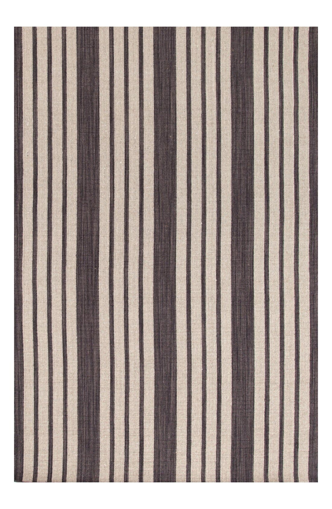 'Lenox' Stripe Rug,                             Alternate thumbnail 2, color,                             CHARCOAL
