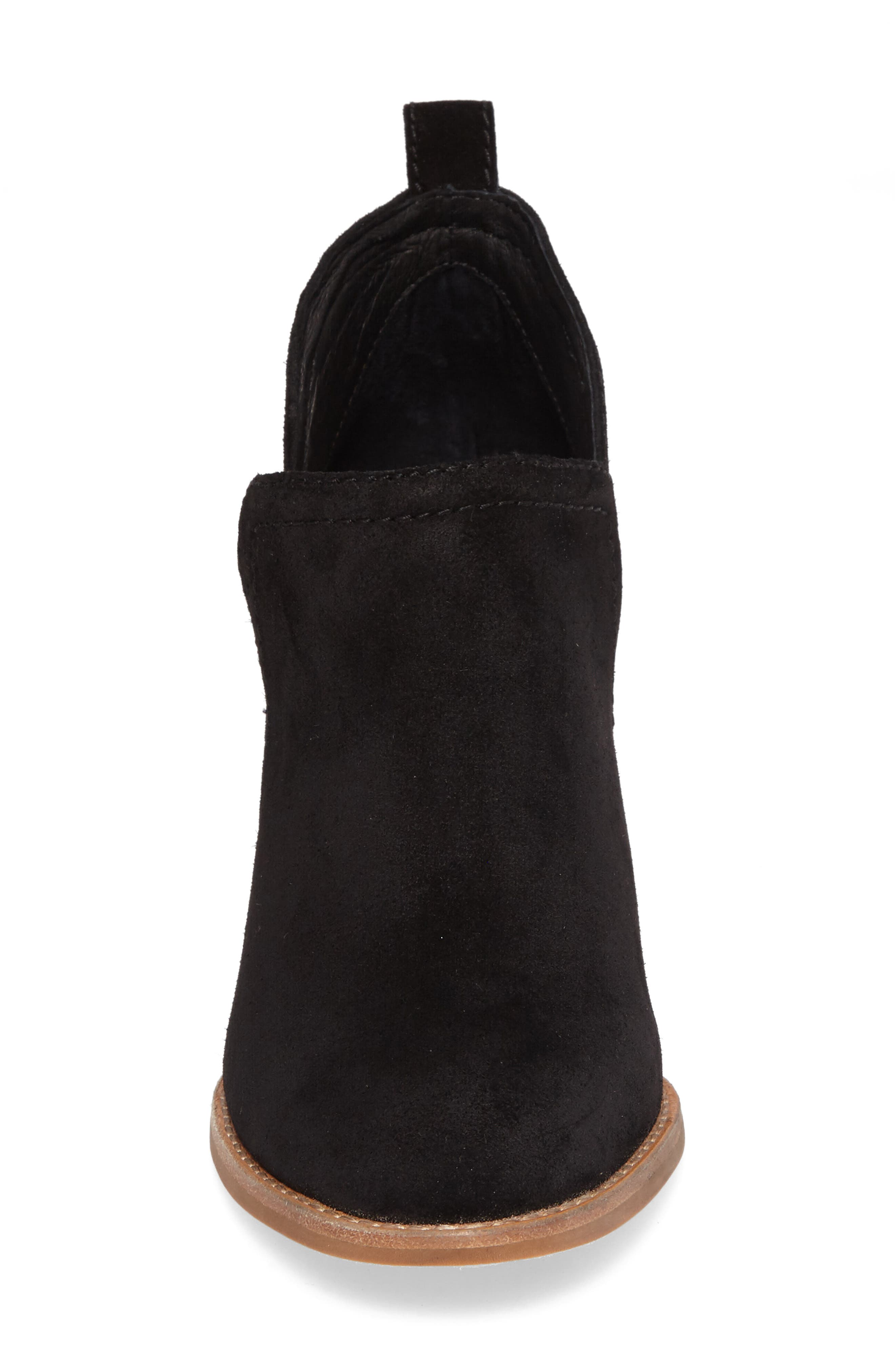 Rosalee Bootie,                             Alternate thumbnail 4, color,                             BLACK OILED SUEDE