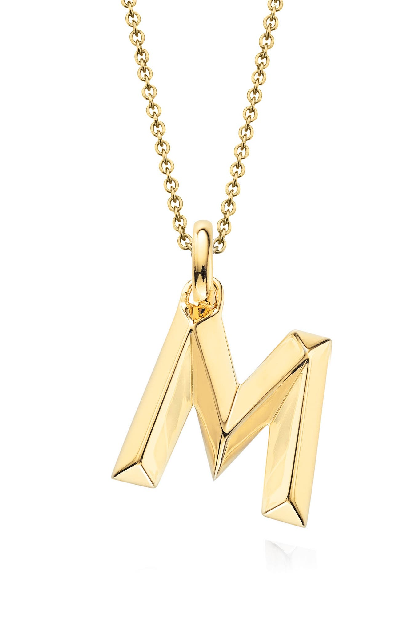 Alphabet Pendant,                             Main thumbnail 1, color,                             Gold- M