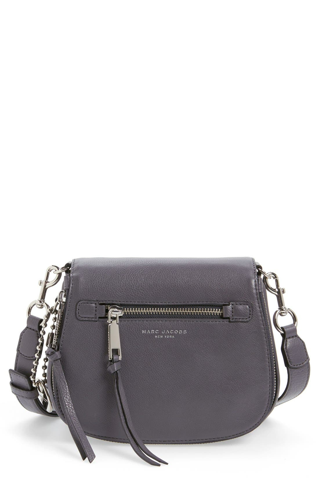 Small Recruit Nomad Pebbled Leather Crossbody Bag,                             Main thumbnail 4, color,