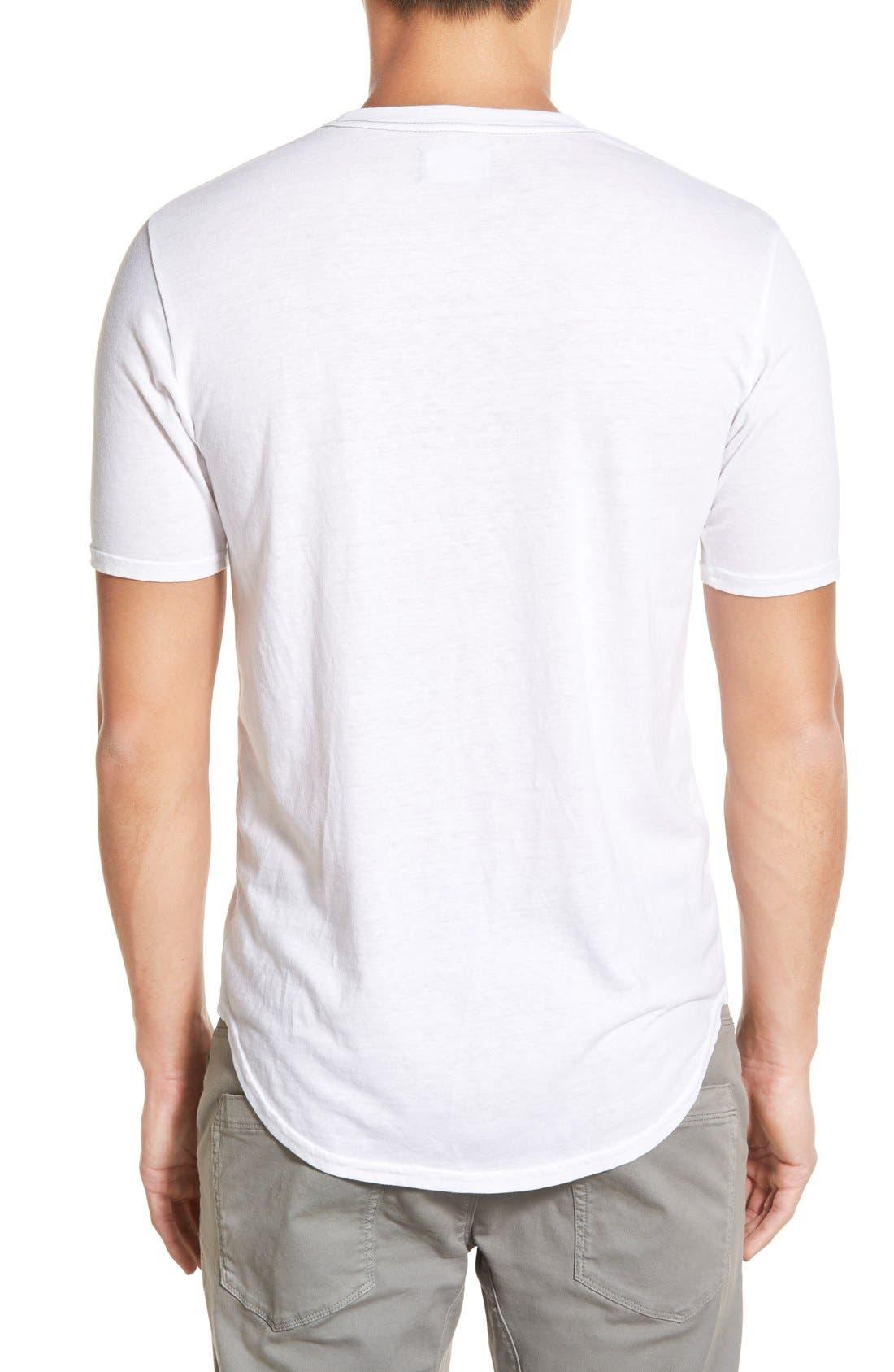 Scallop Triblend Crewneck T-Shirt,                             Alternate thumbnail 109, color,