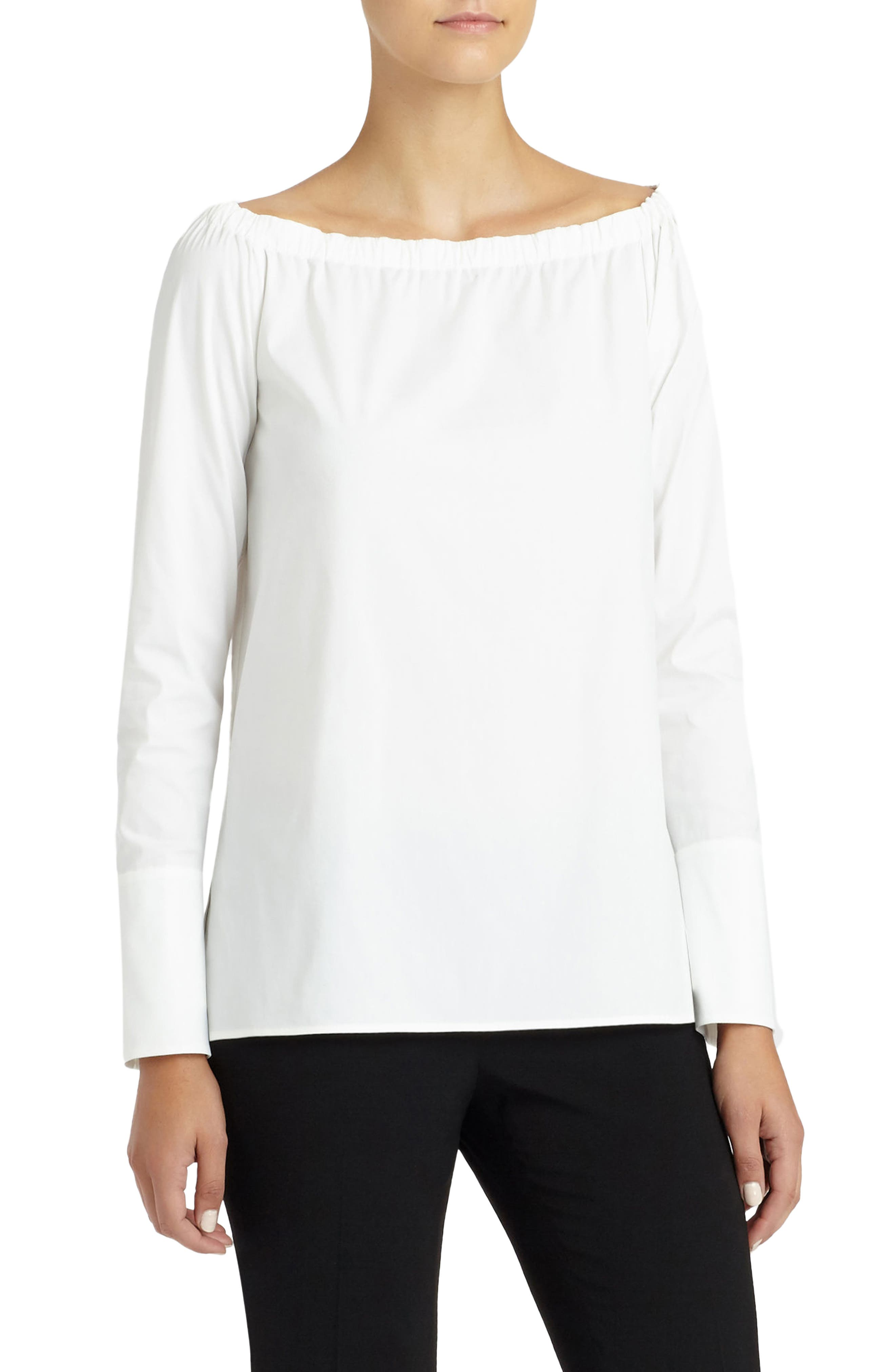 LAFAYETTE 148 NEW YORK,                             Amy Blouse,                             Alternate thumbnail 3, color,                             WHITE