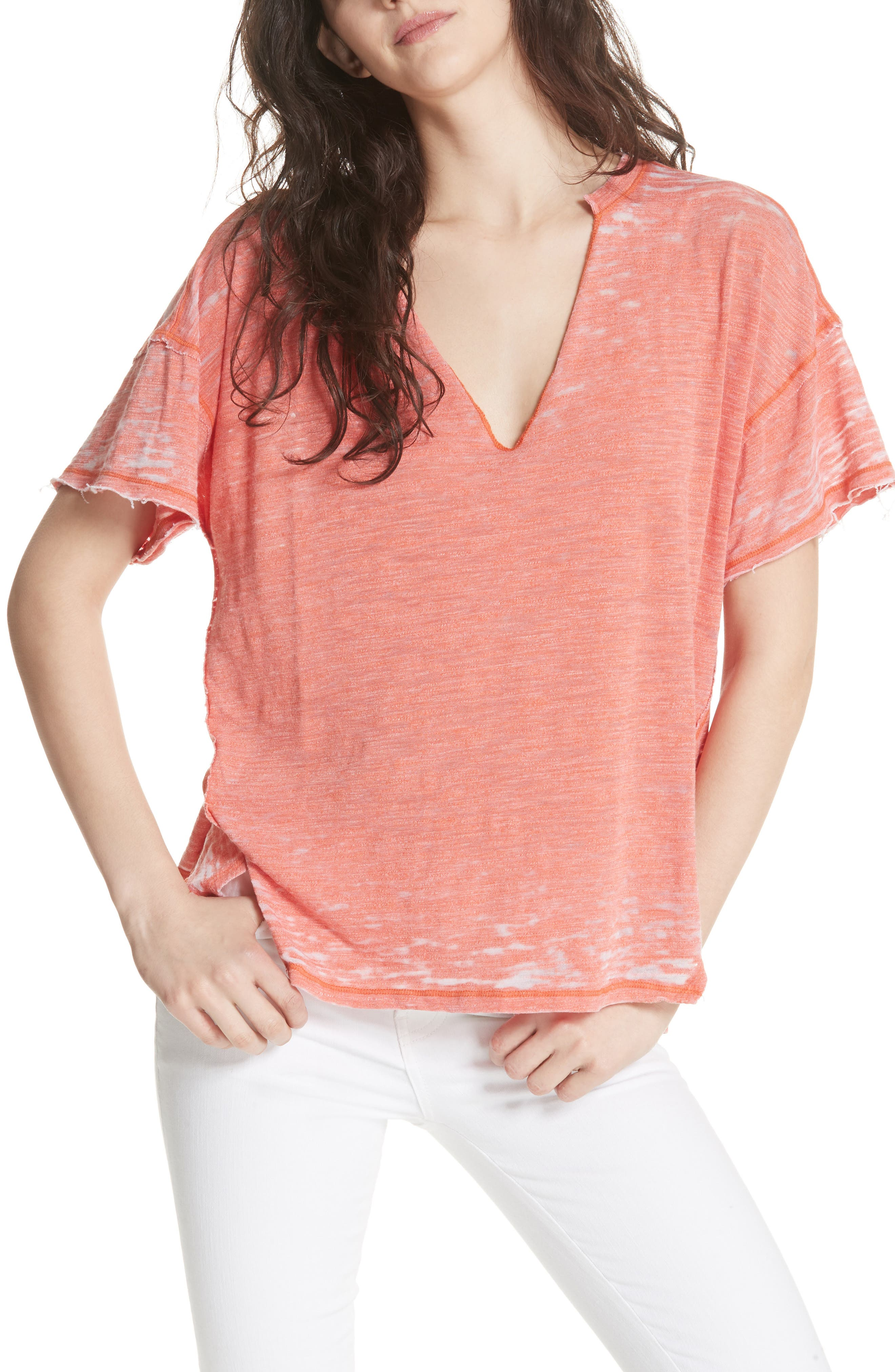 Maddie Burnout Tee,                             Main thumbnail 1, color,                             953