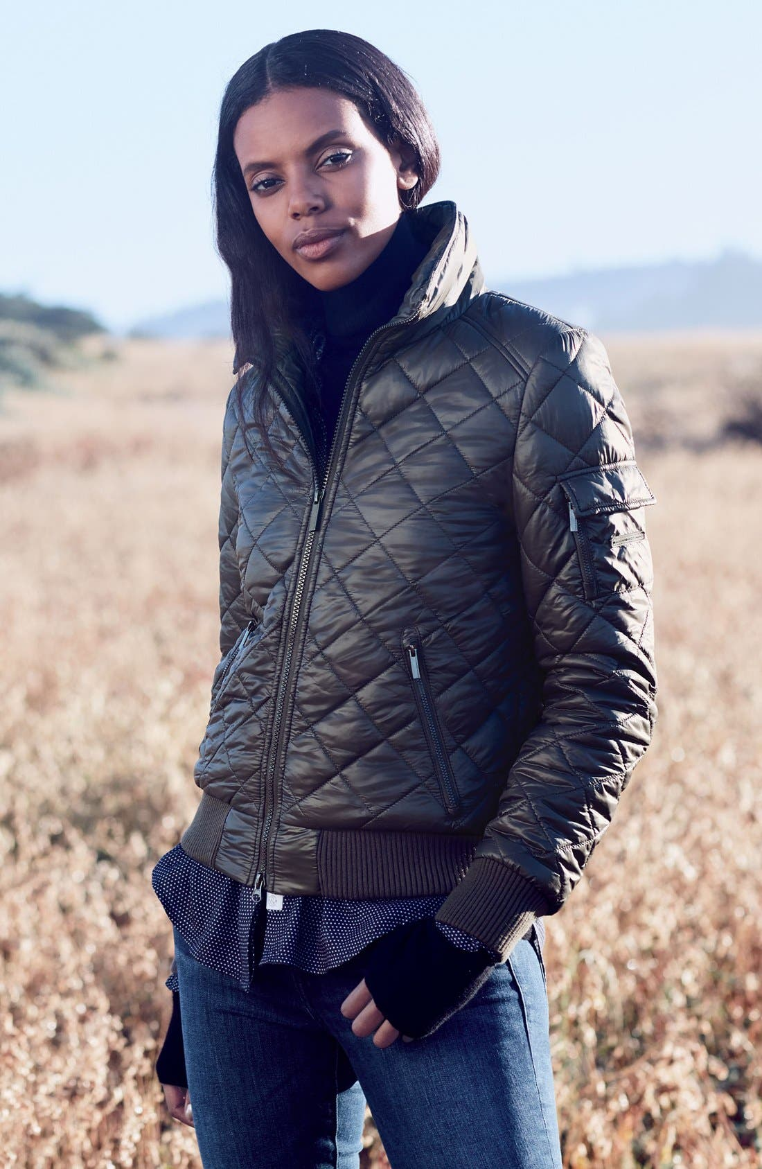 Quilted Bomber Jacket,                             Alternate thumbnail 13, color,