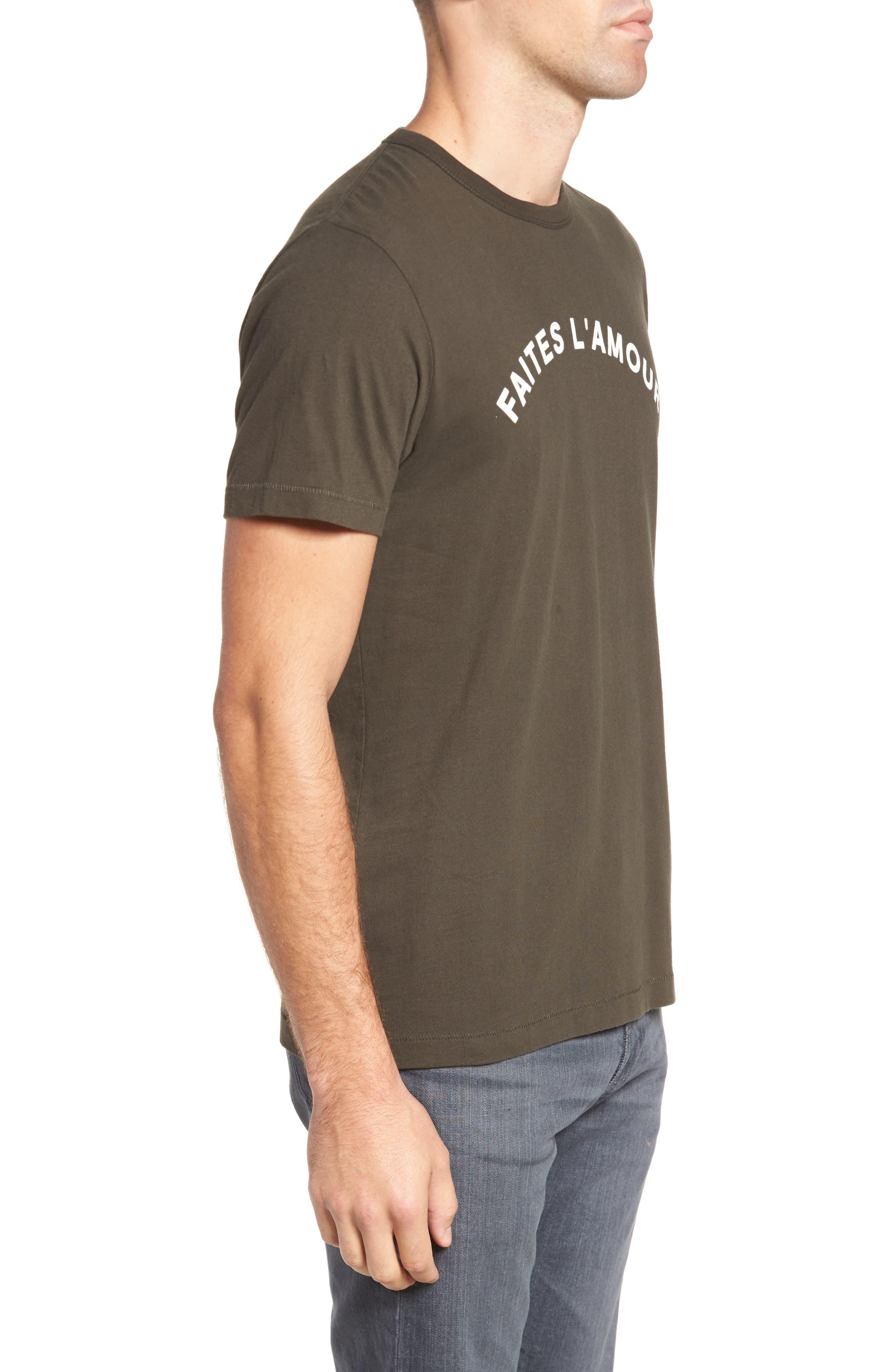 Faites L'Amour Regular Fit T-Shirt,                             Alternate thumbnail 3, color,                             001